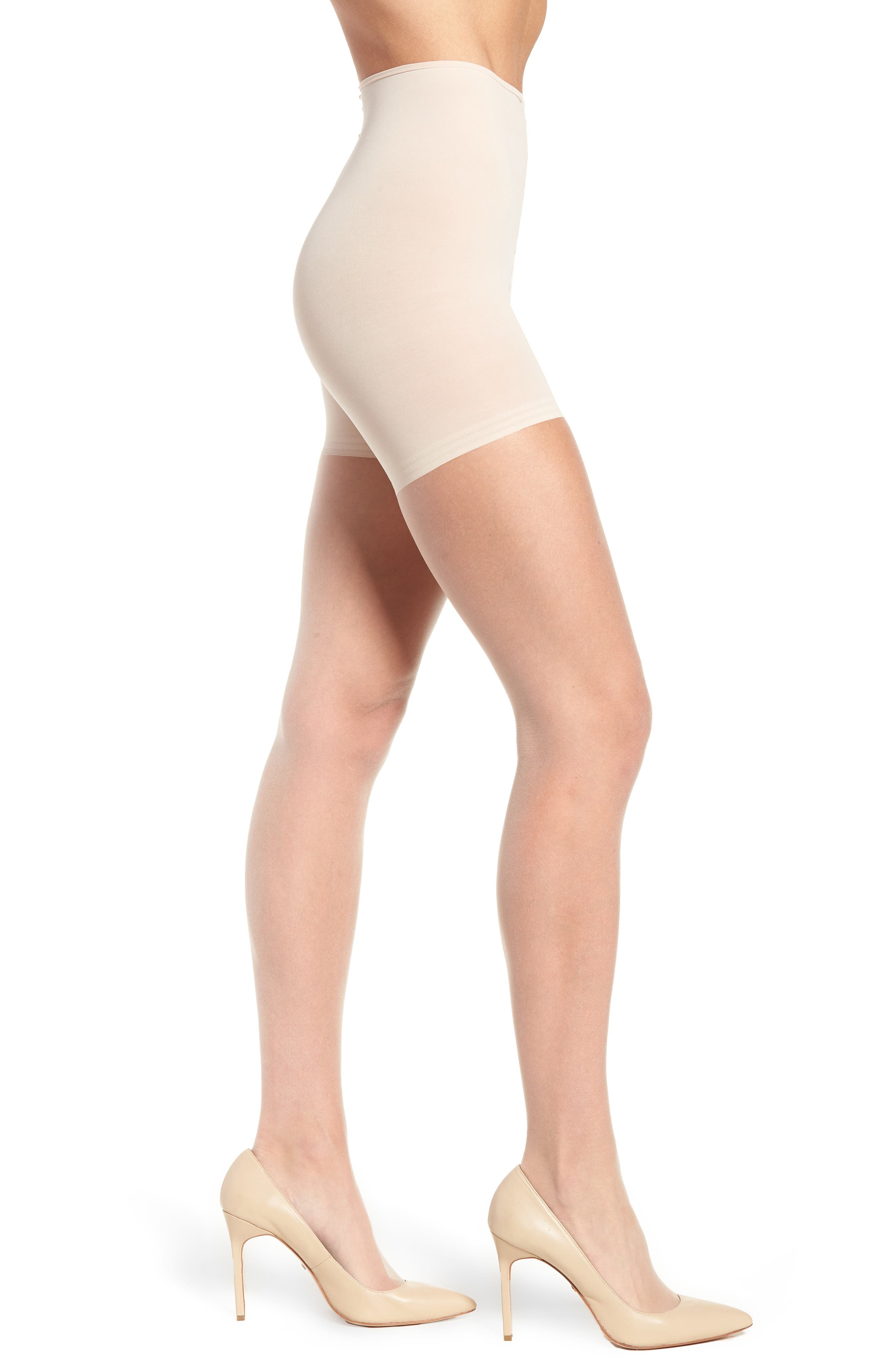 The Nudes Whisper Weight Control Top Pantyhose,                         Main,                         color, TONE A01