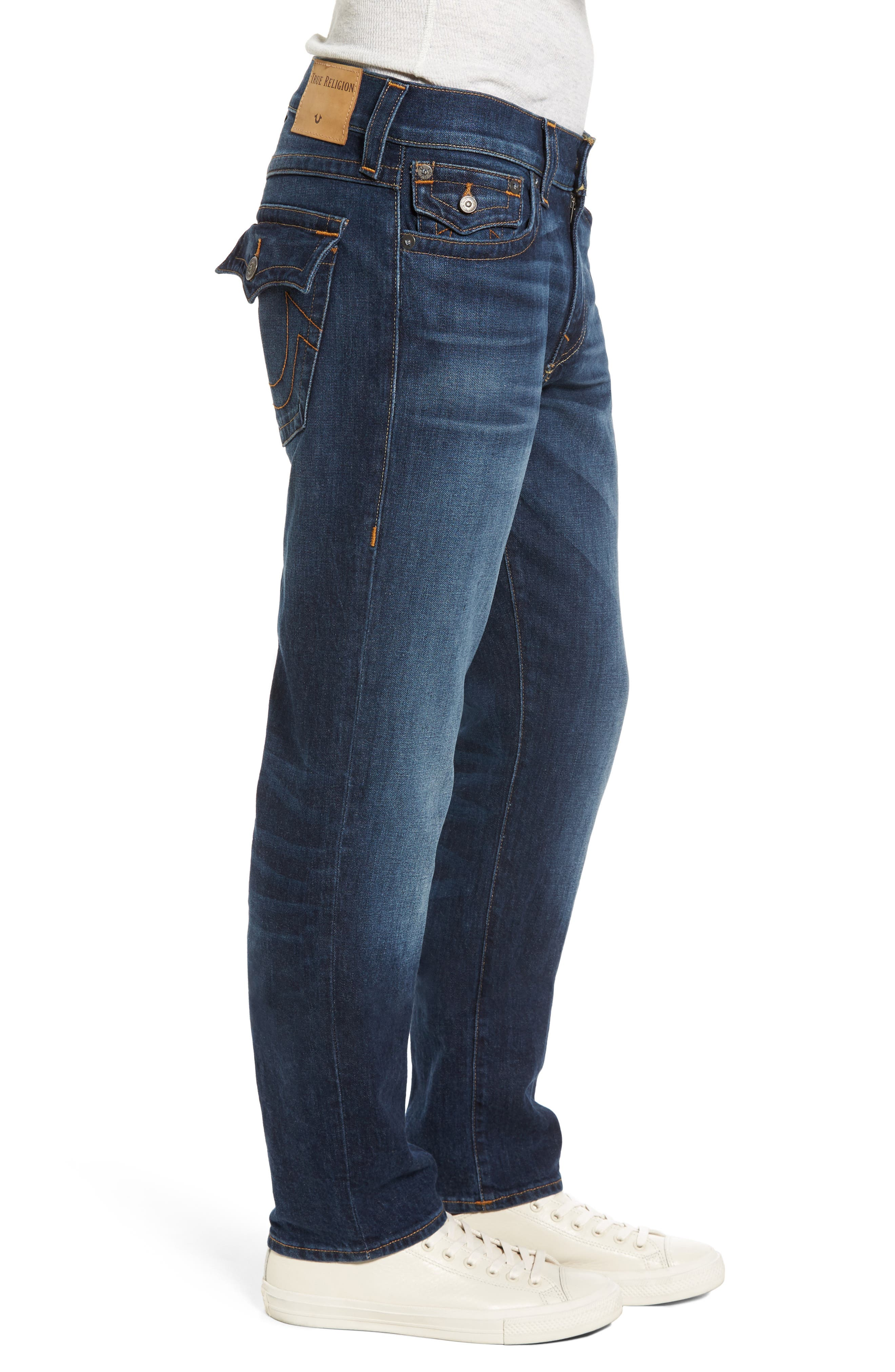 Geno Straight Leg Jeans,                             Alternate thumbnail 3, color,                             BLUE CASCADE
