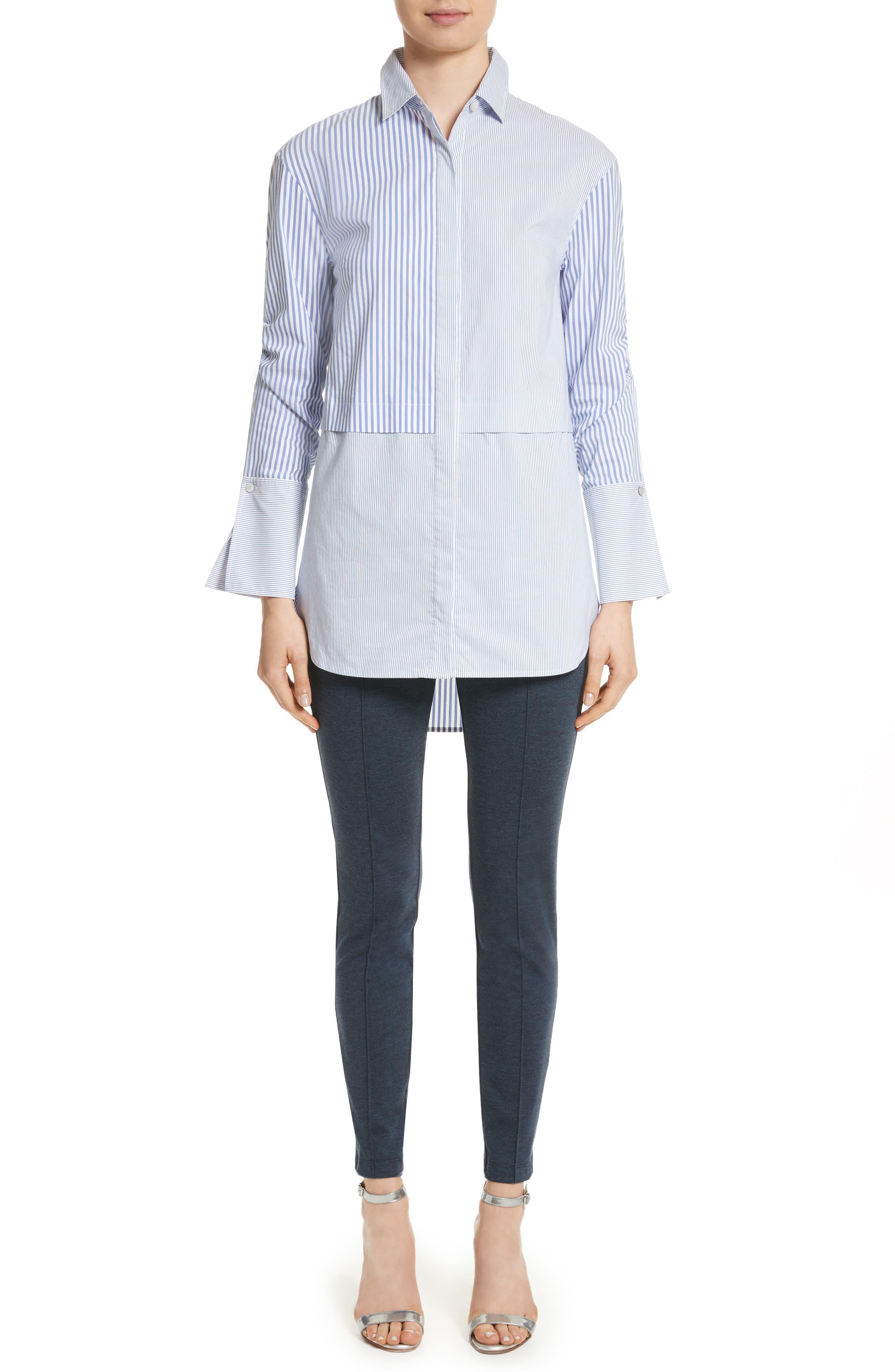Striped Shirting Tunic,                         Main,                         color,