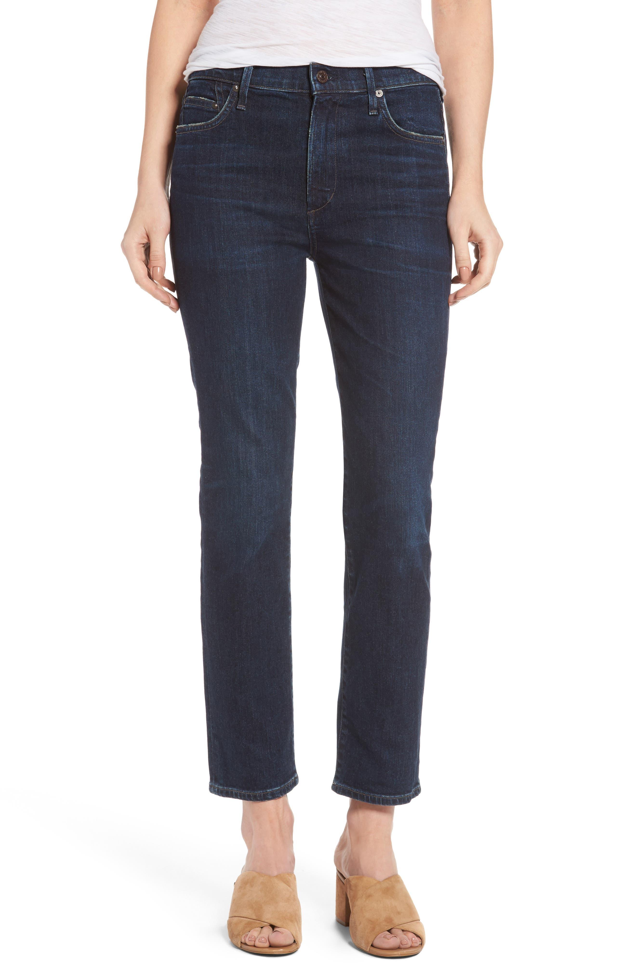Cara Ankle Cigarette Jeans,                             Main thumbnail 1, color,                             401