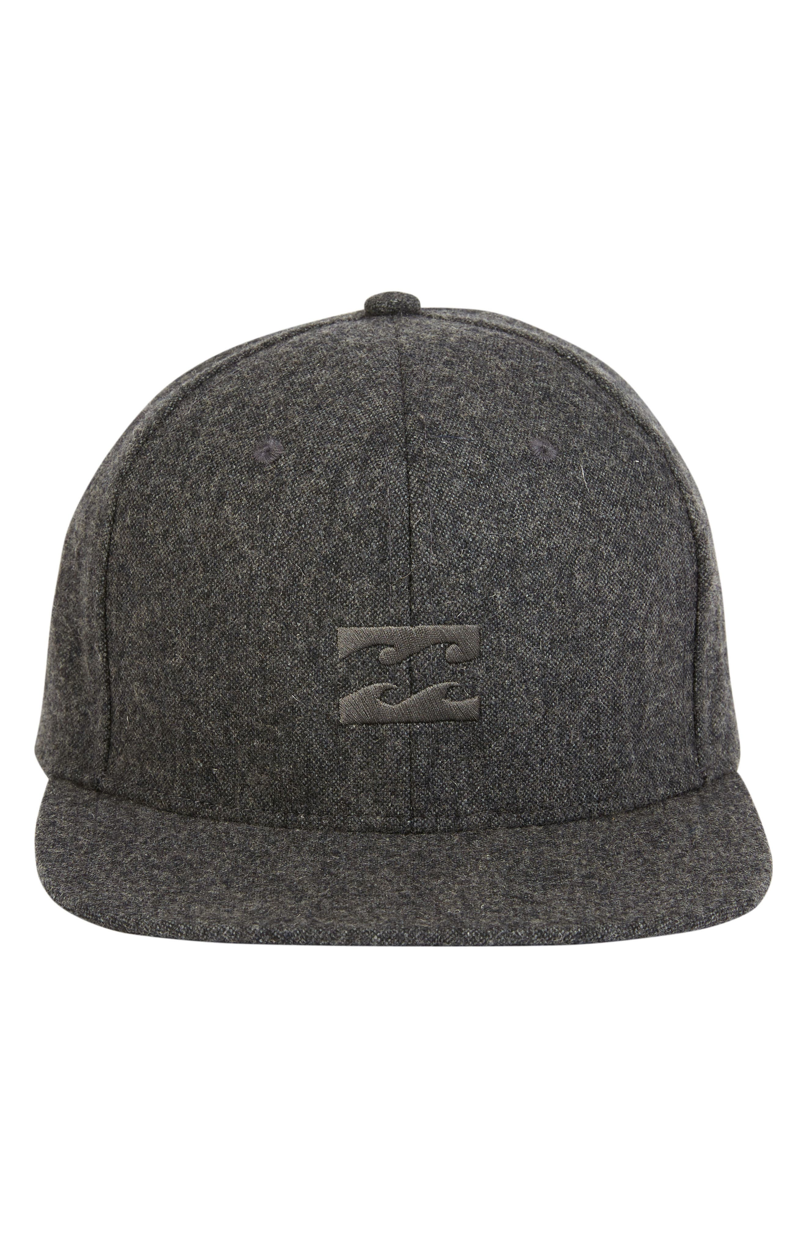 All Day Snapback Cap,                             Alternate thumbnail 2, color,                             BLACK HEATHER