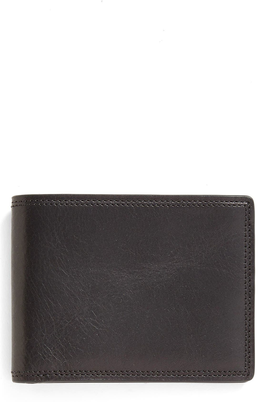 Leather Bifold Wallet,                             Main thumbnail 1, color,                             001