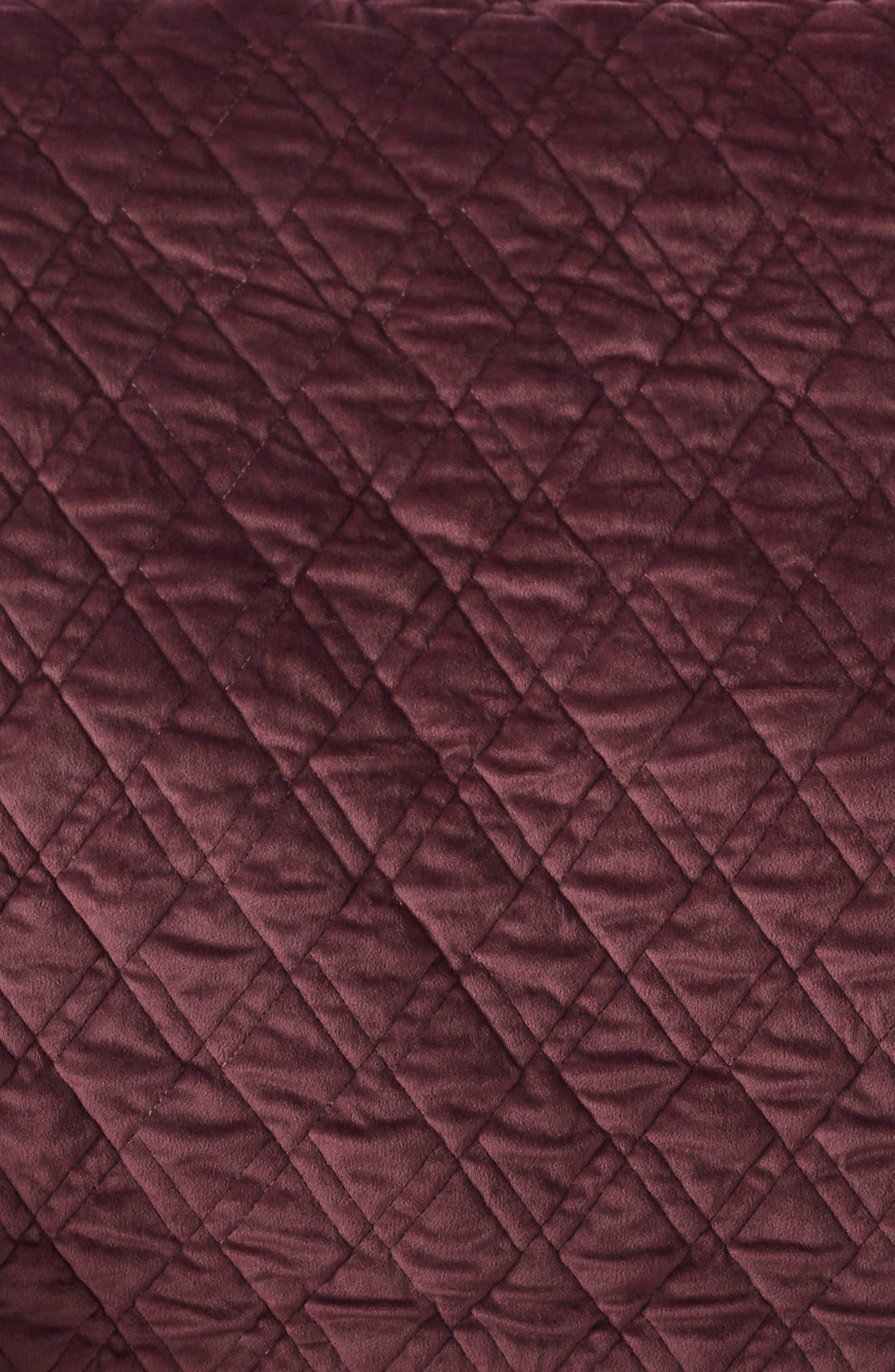 Karlina Geometric Quilt,                             Alternate thumbnail 2, color,                             BURGUNDY STEM