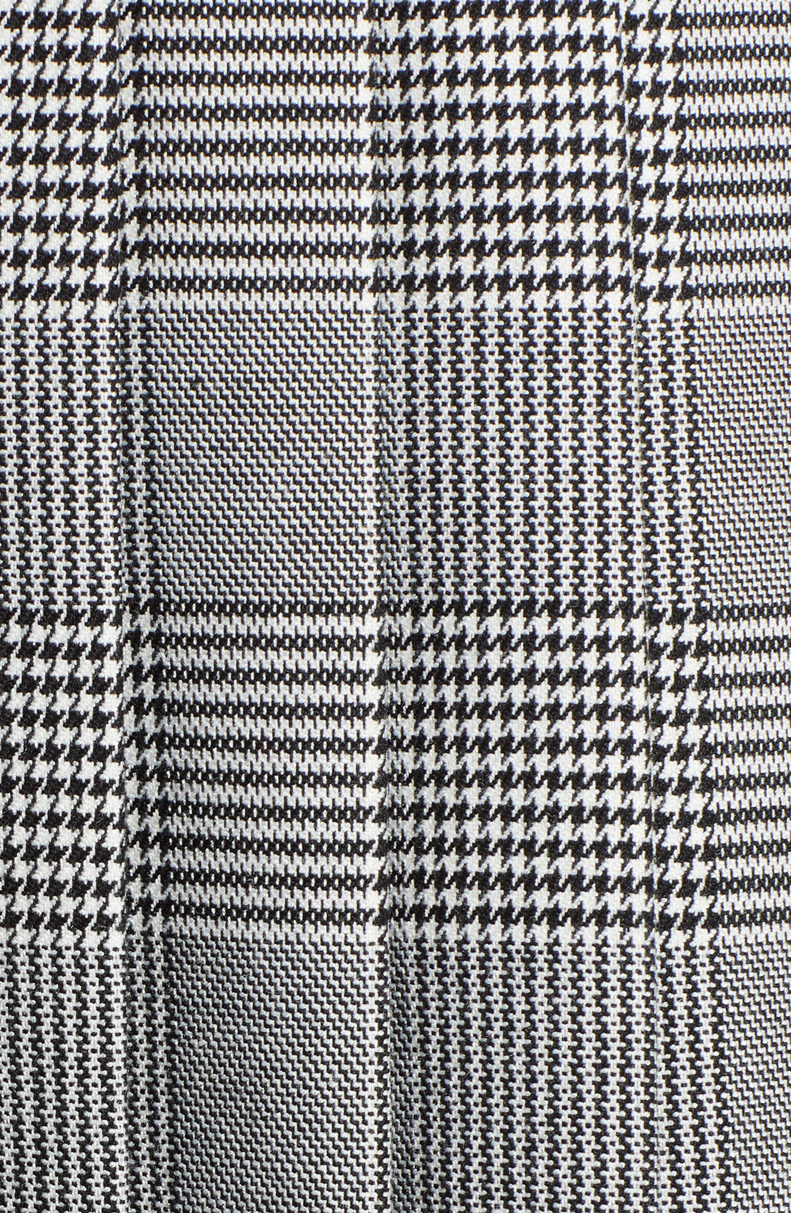 Plaid A-Line Skirt,                             Alternate thumbnail 5, color,                             001