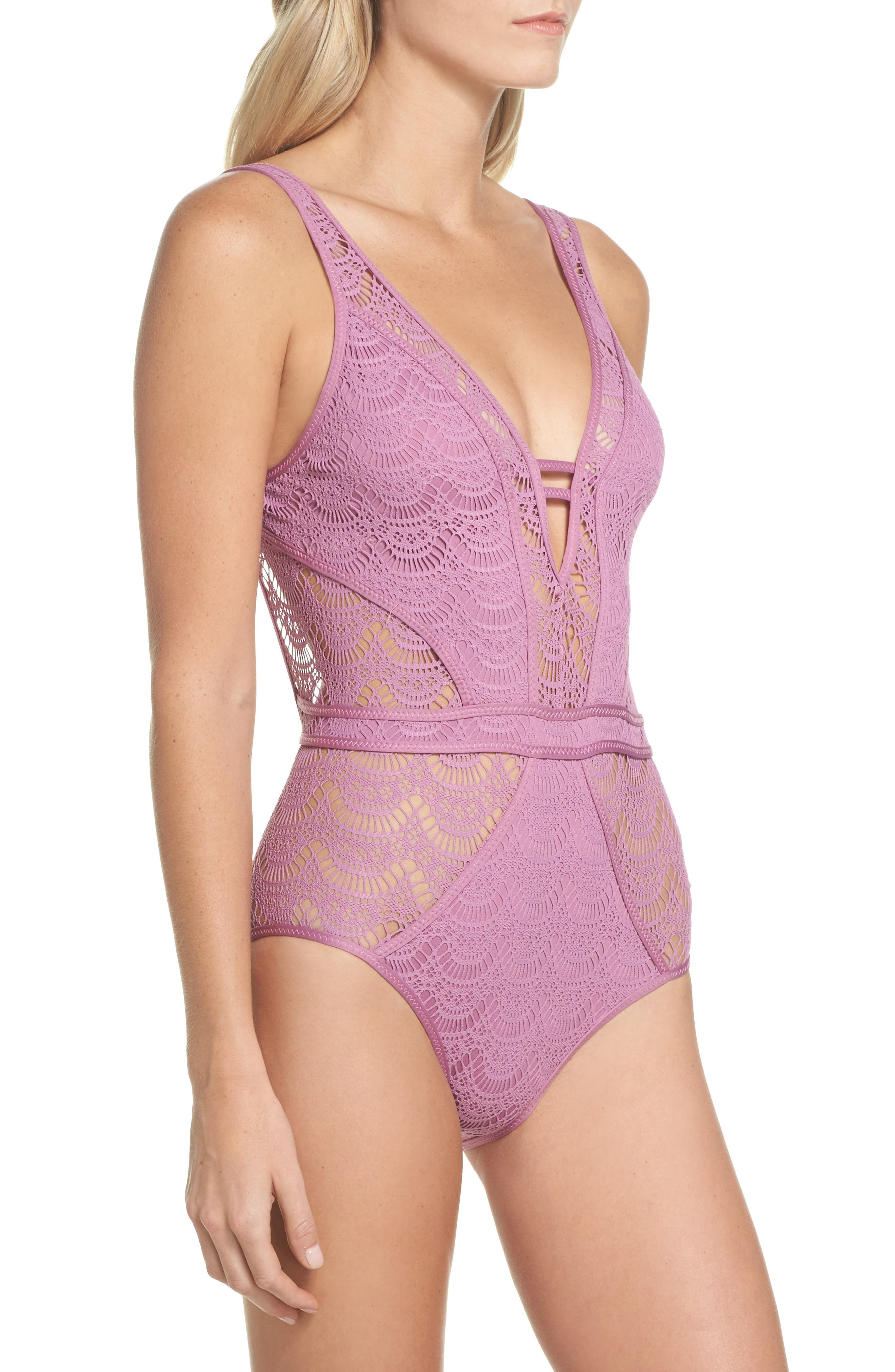Show & Tell One-Piece Swimsuit,                             Alternate thumbnail 8, color,