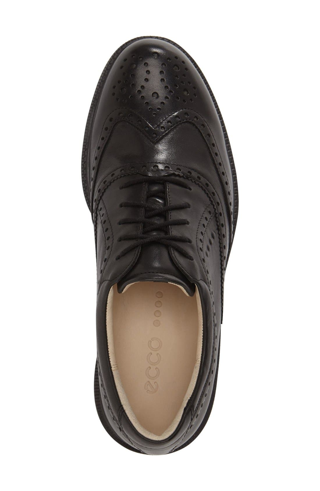 'Tour' Hybrid Wingtip Golf Shoe,                             Alternate thumbnail 2, color,                             011