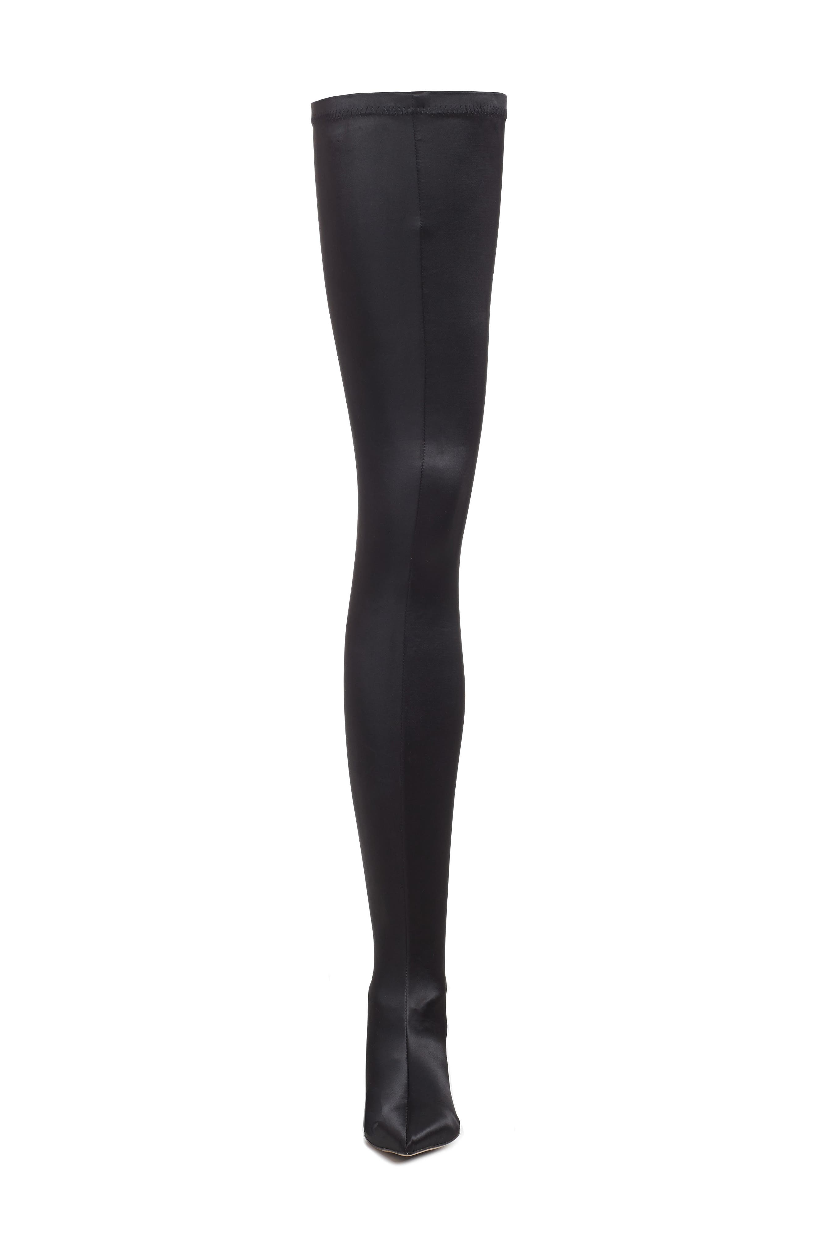 Dene Thigh High Boot,                             Alternate thumbnail 4, color,                             001