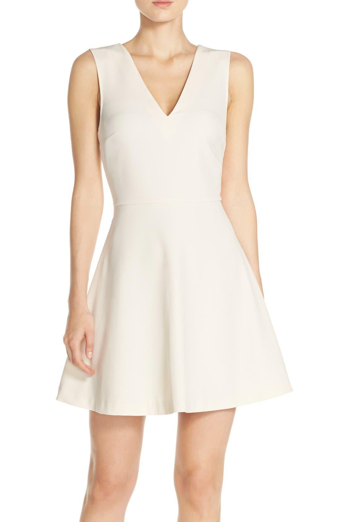 Bianca Back Cutout Fit & Flare Dress,                             Main thumbnail 14, color,