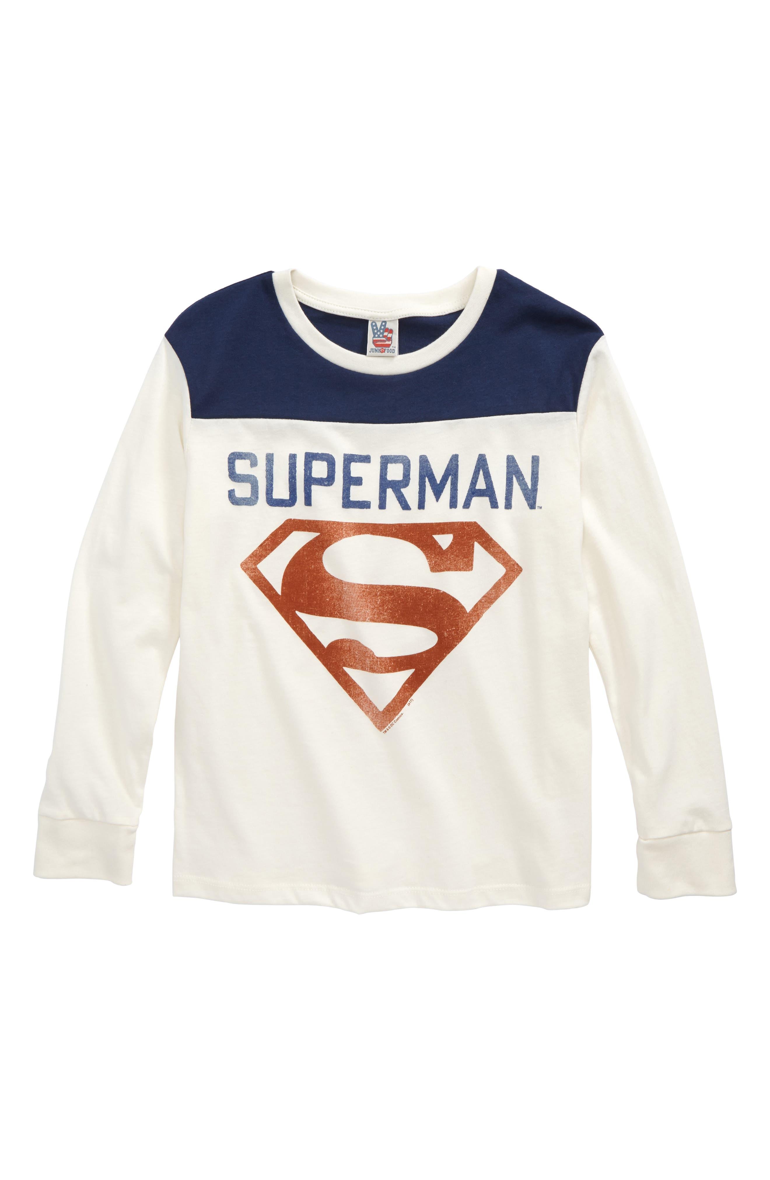 Superman Shield T-Shirt,                         Main,                         color, 900