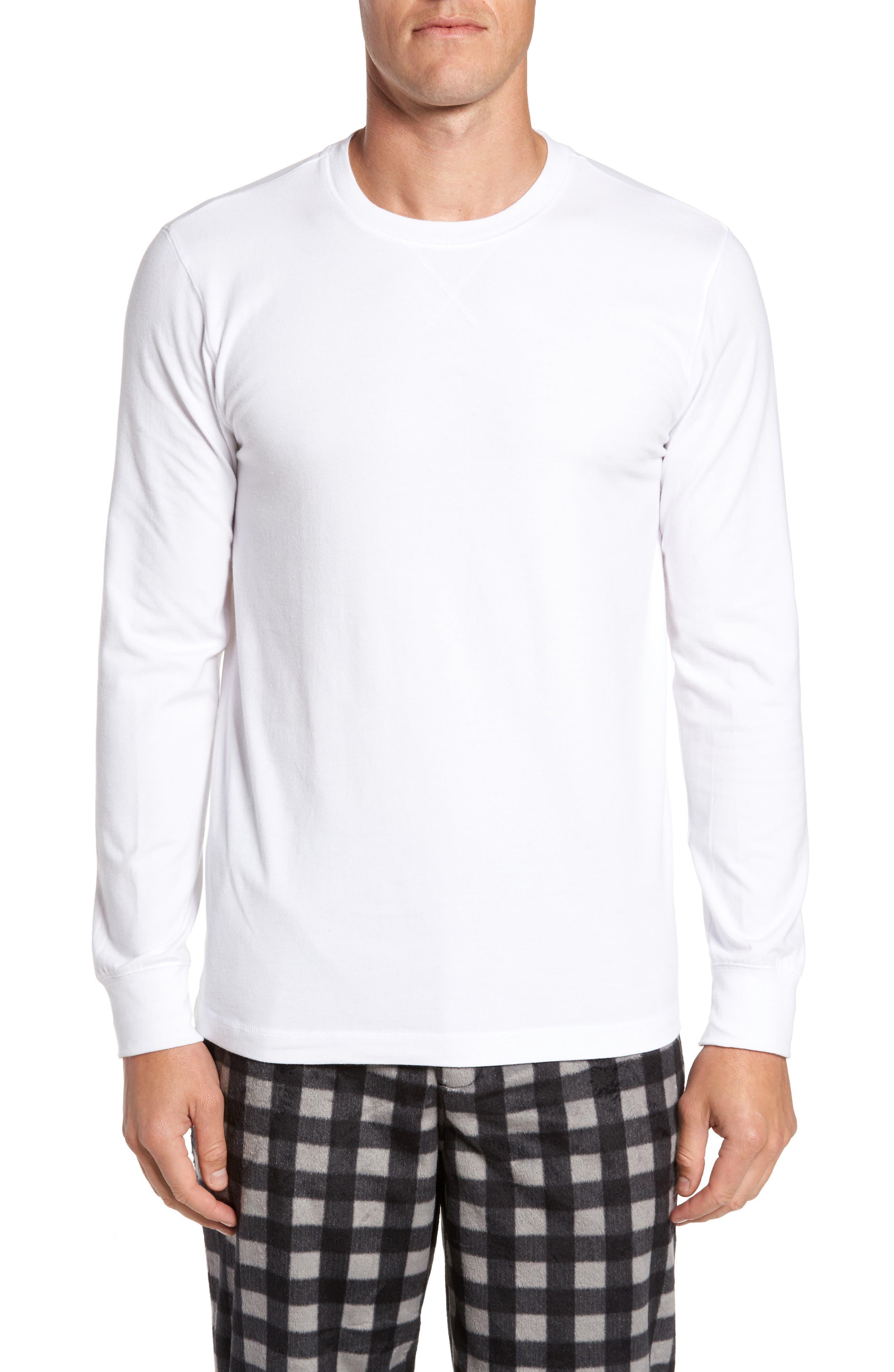Stretch Cotton Long Sleeve T-Shirt,                             Main thumbnail 3, color,