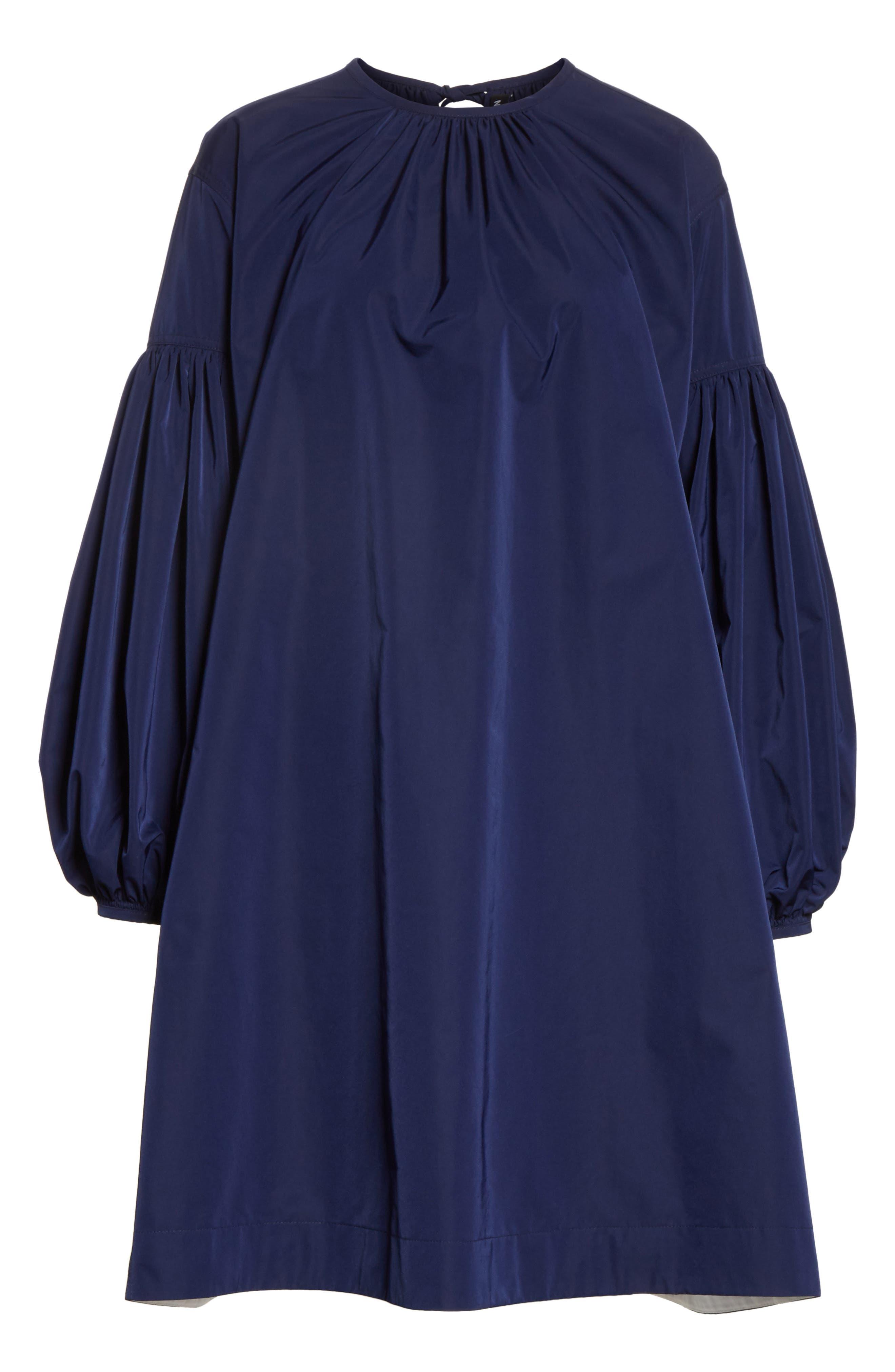 Ruched Sleeve Taffeta Dress,                             Alternate thumbnail 6, color,                             404