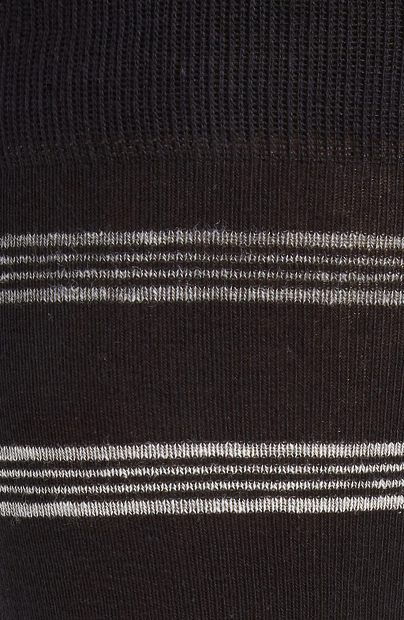 Stripe Socks,                             Alternate thumbnail 2, color,                             BLACK/ GREY