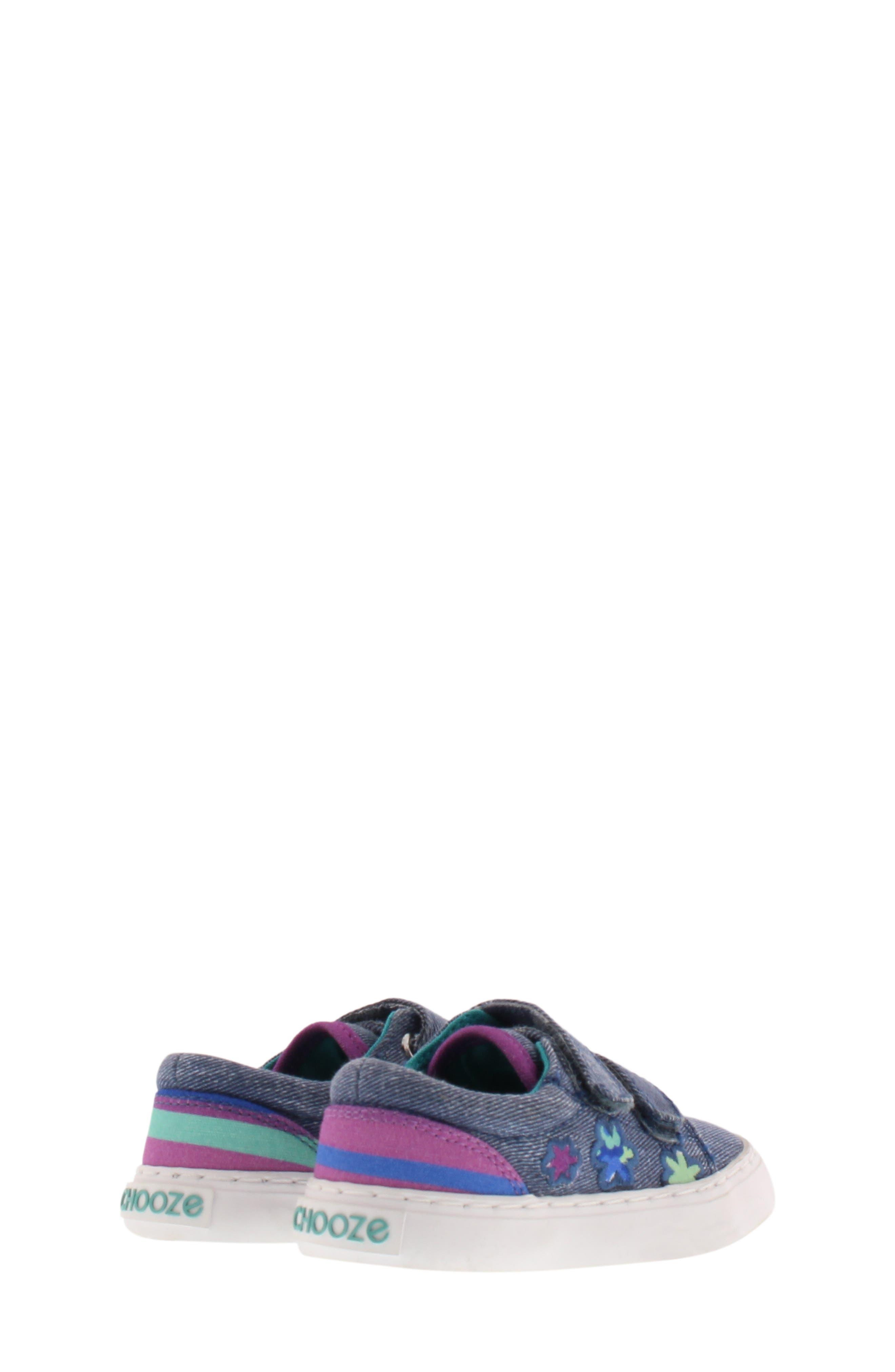 Move Flower Appliqué Sneaker,                             Alternate thumbnail 2, color,                             DENIM