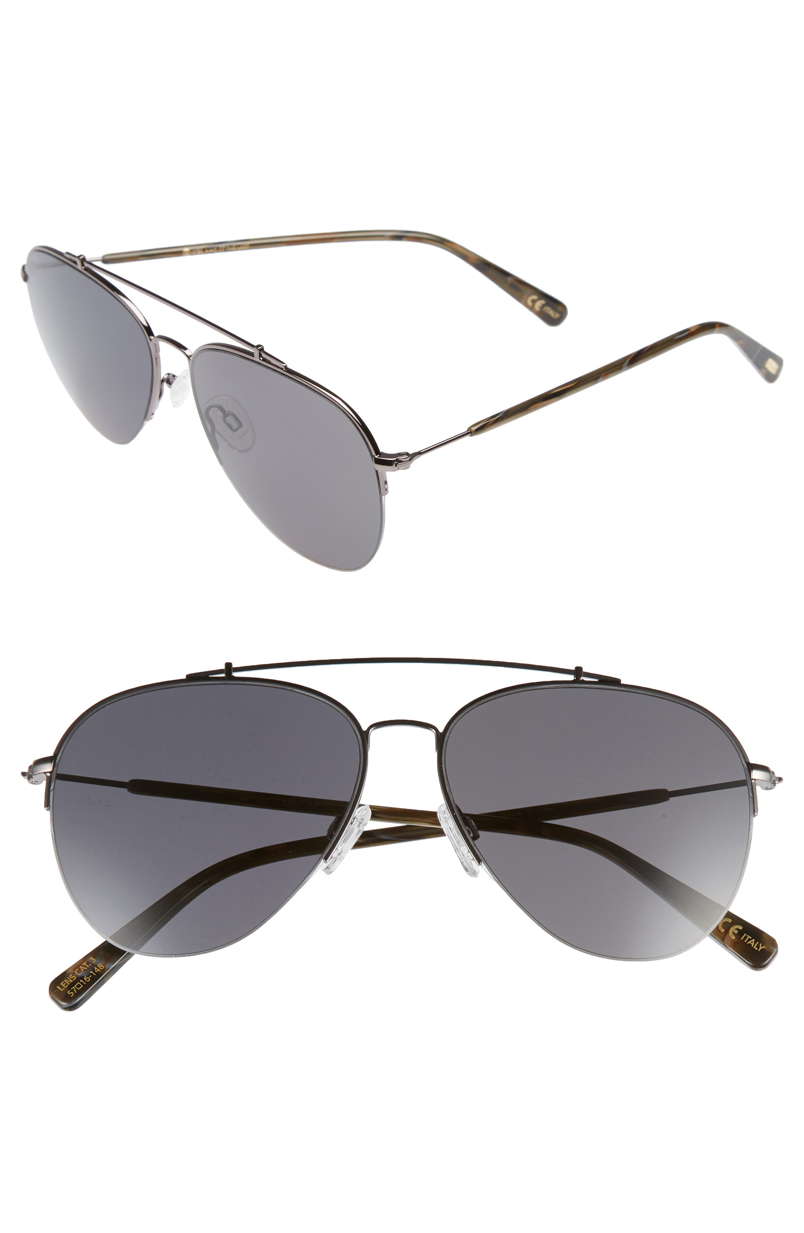 D'BLANC The Last 57mm Aviator Sunglasses,                         Main,                         color, 001