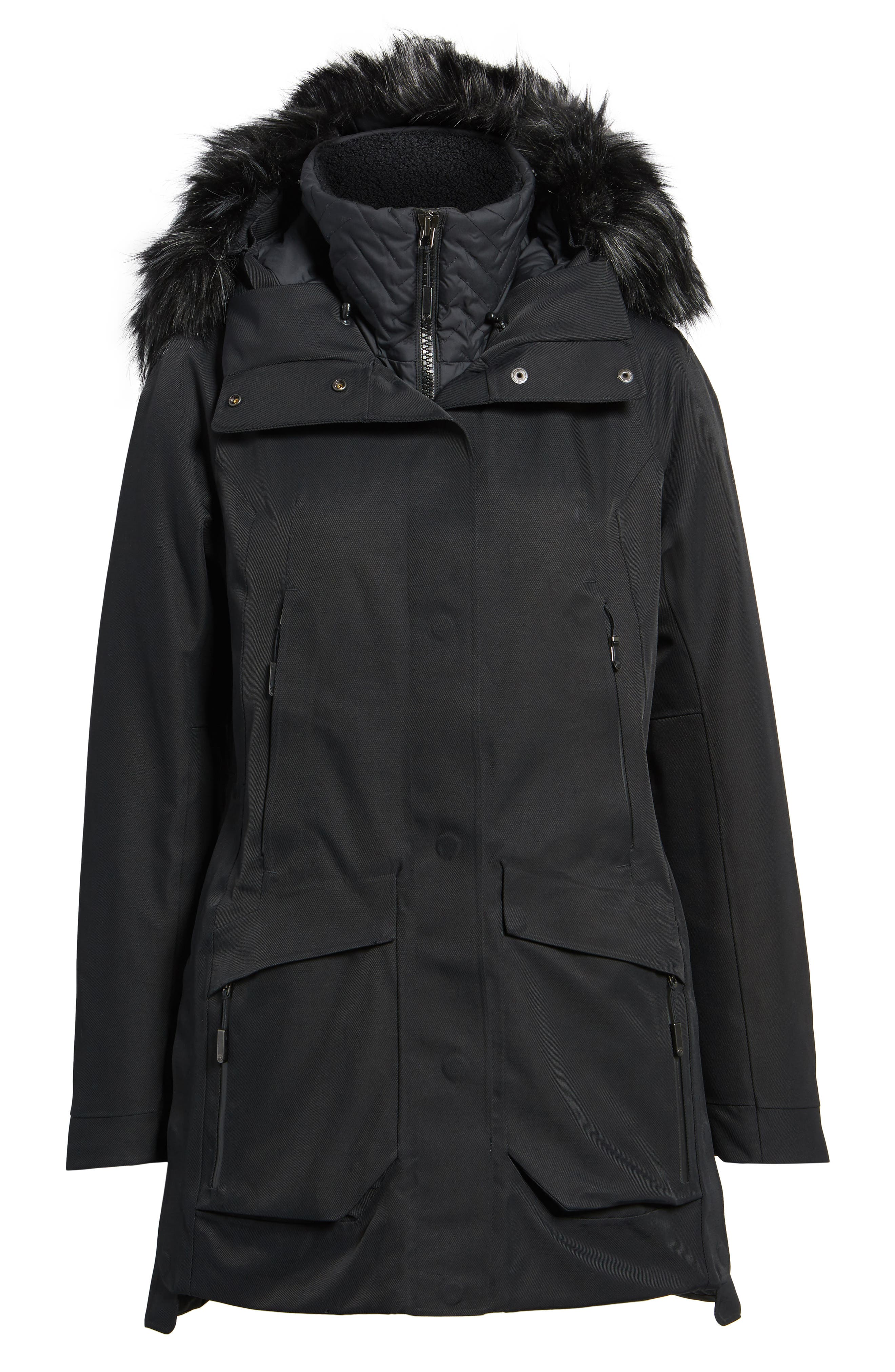 Cryos Gore-Tex<sup>®</sup> Tri-Climate PrimaLoft Gold Insulated Waterproof & Windproof Jacket,                             Alternate thumbnail 6, color,                             001