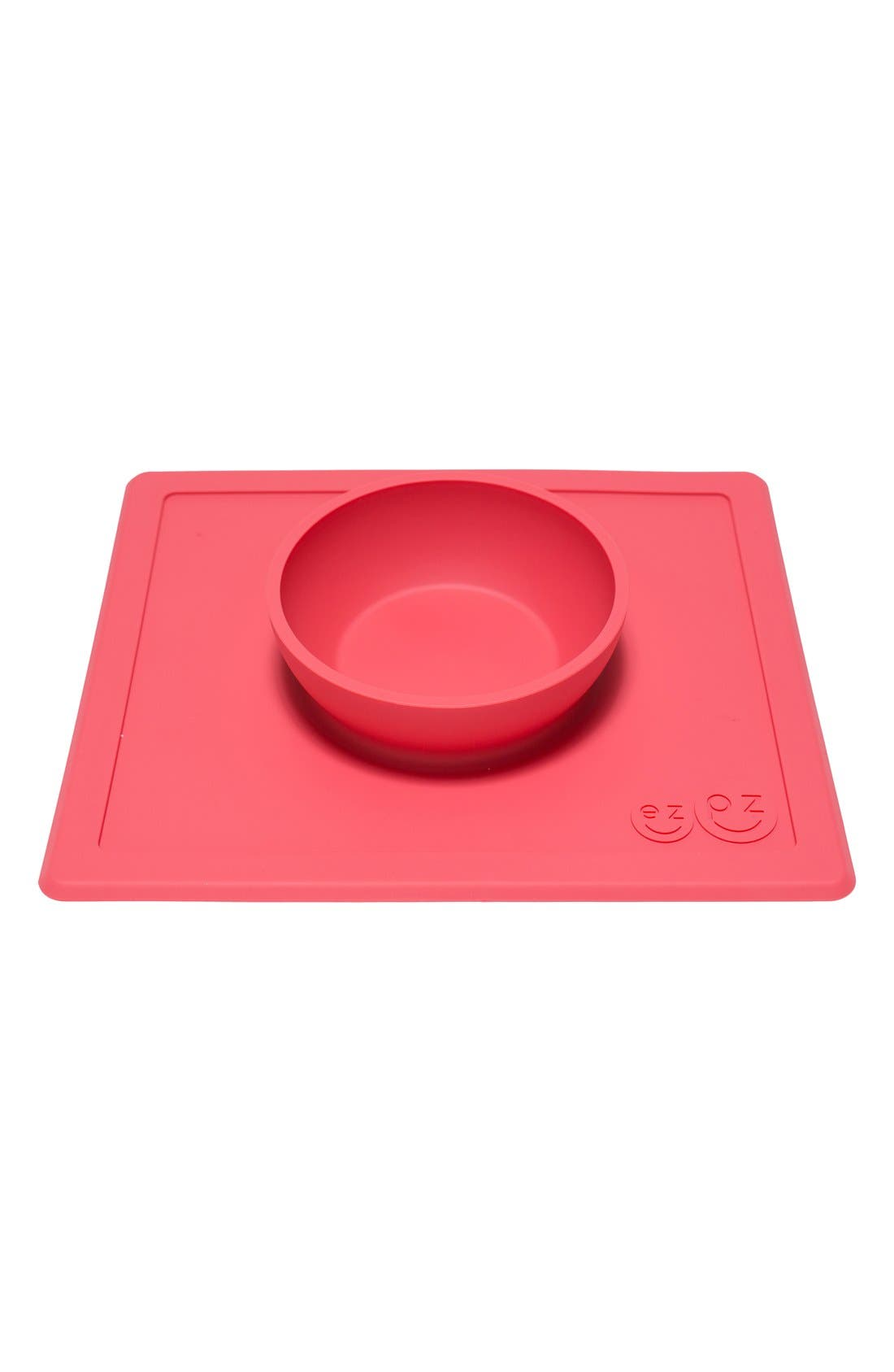 'Happy Bowl' Silicone Feeding Mat,                             Alternate thumbnail 2, color,                             CORAL