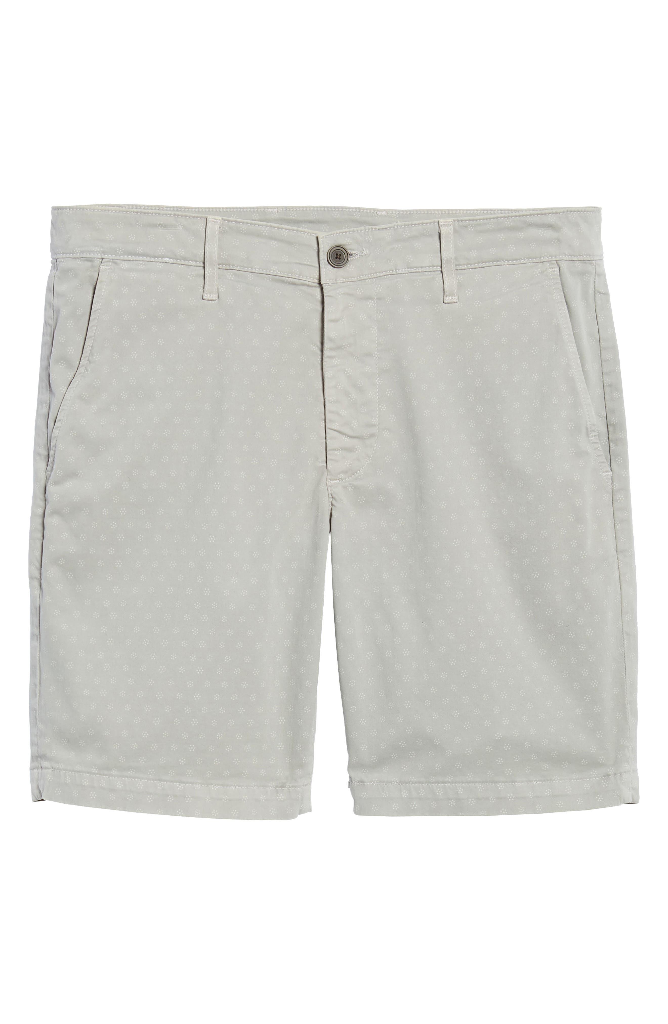 Flora Print Slim Fit Shorts,                             Alternate thumbnail 6, color,                             020