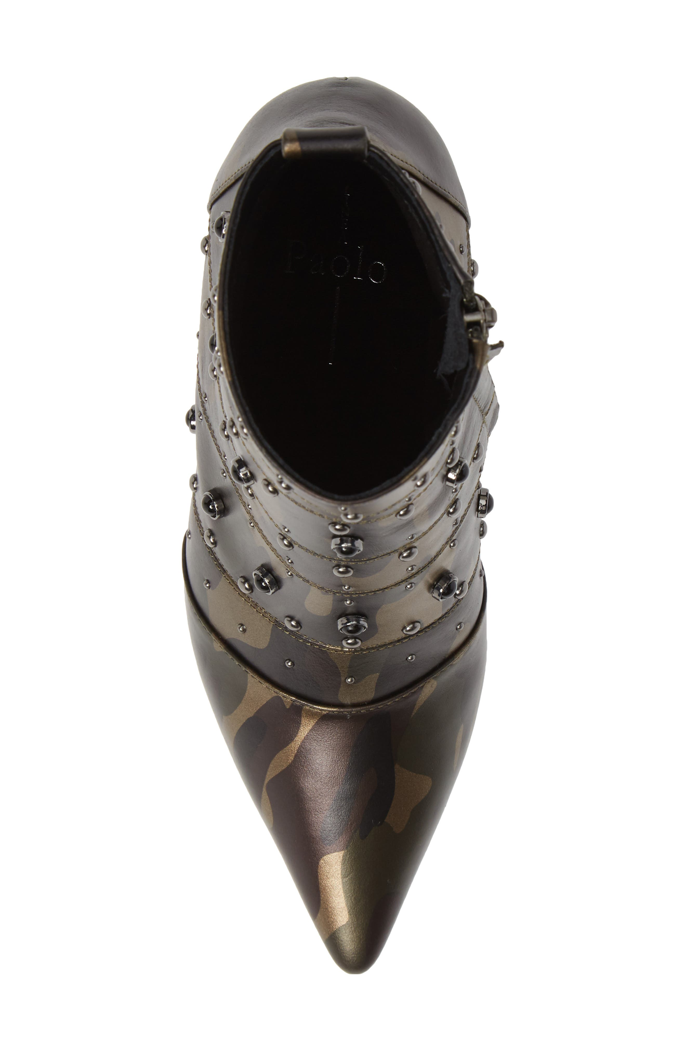 Nara Studded Bootie,                             Alternate thumbnail 5, color,                             CAMO LEATHER