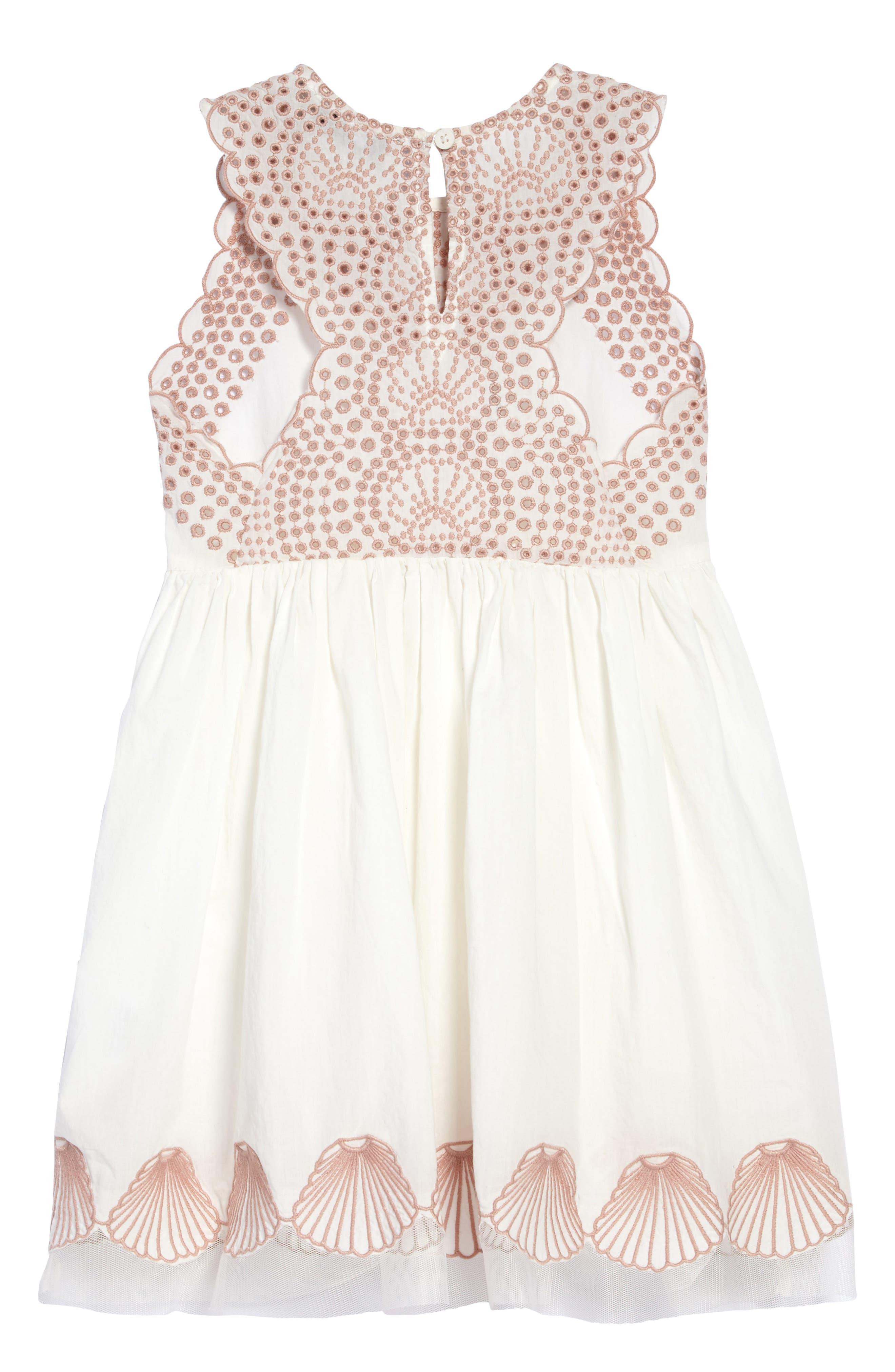 STELLA MCCARTNEY,                             Embroidered Sleeveless Dress,                             Alternate thumbnail 2, color,                             900