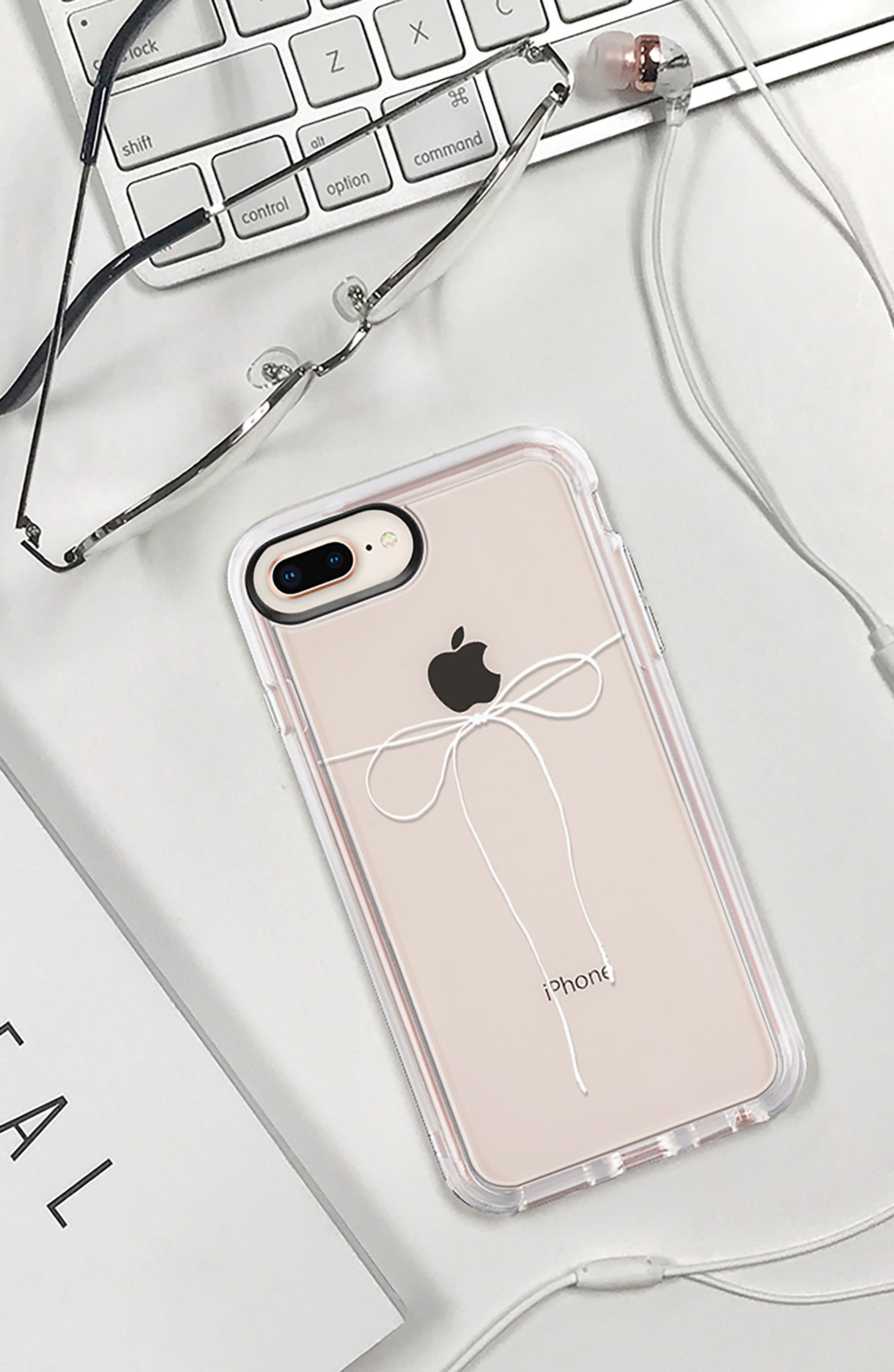 Take a Bow iPhone 7/8 & 7/8 Plus Case,                             Alternate thumbnail 9, color,                             CLEAR WHITE