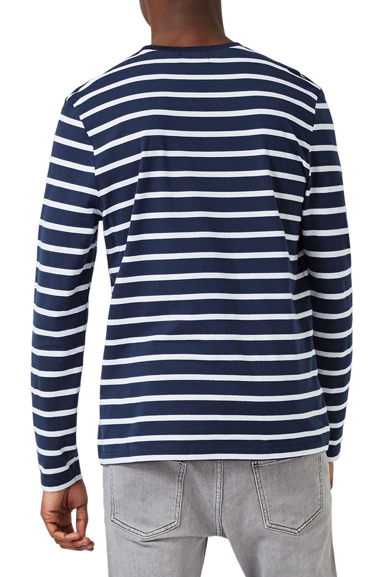 Stripe Slim Fit Long Sleeve T-Shirt,                             Alternate thumbnail 2, color,                             401