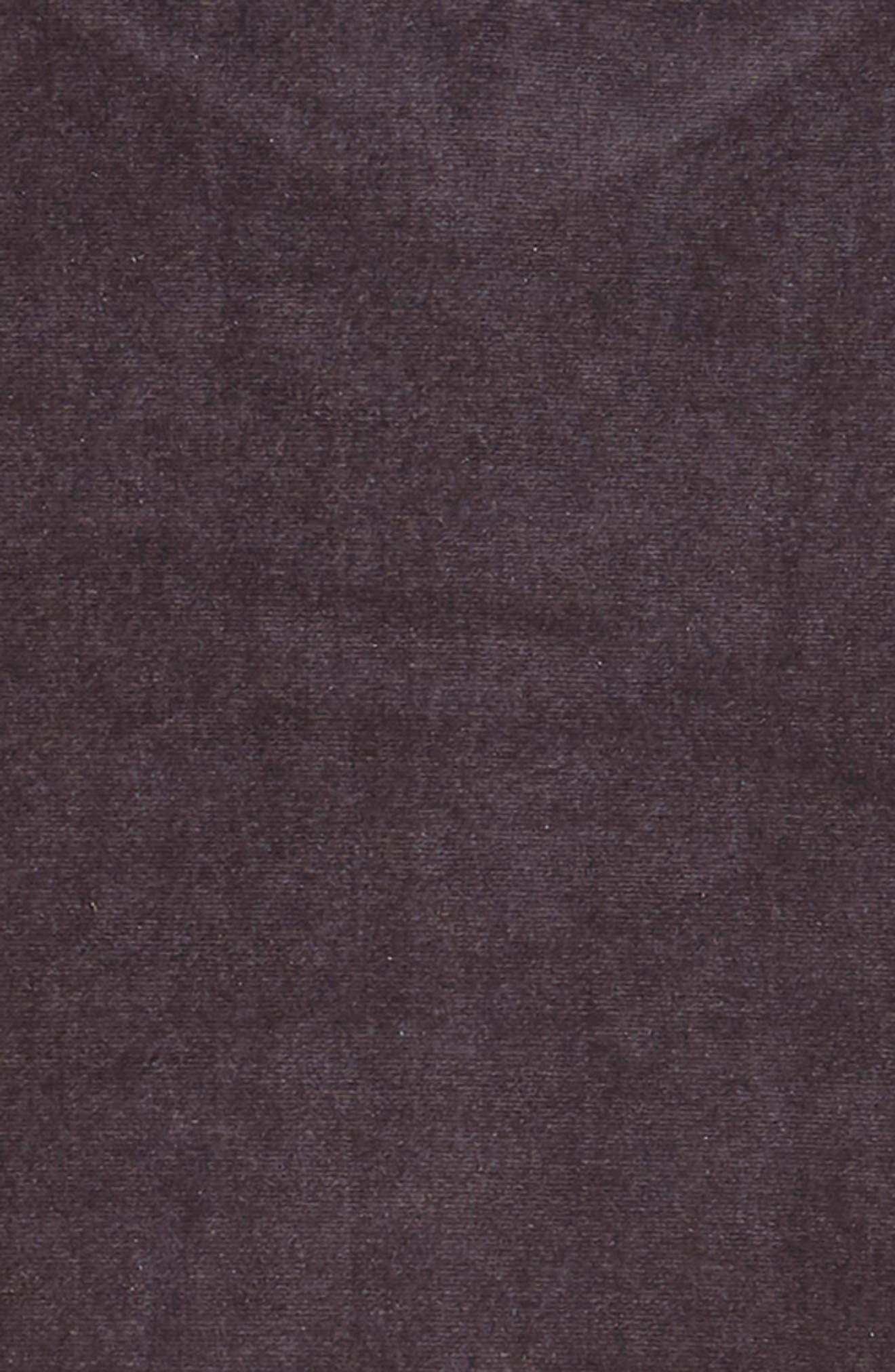 Gigi Flutter Sleeve Velvet Dress,                             Alternate thumbnail 3, color,                             SILVER GREY