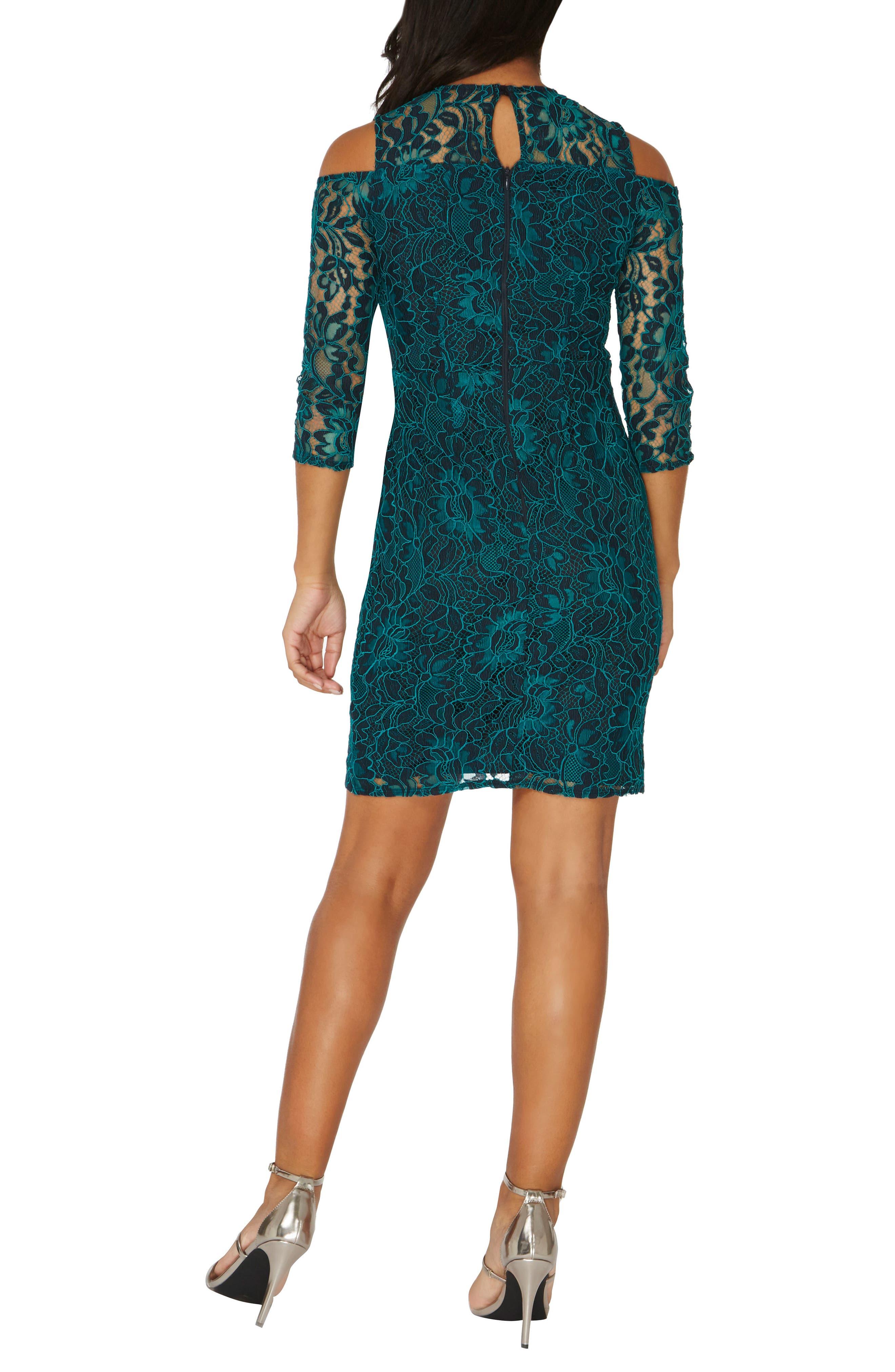 Cold Shoulder Lace Dress,                             Alternate thumbnail 2, color,                             300