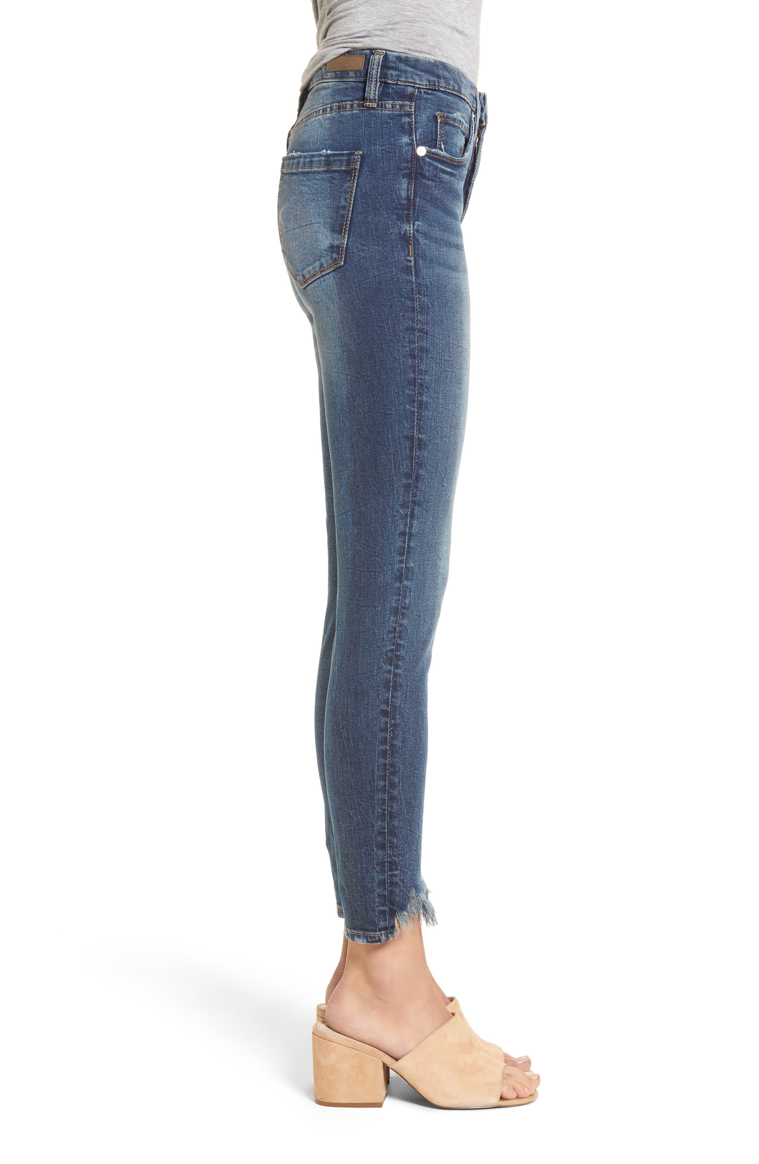 Cry Baby Raw Hem High Waist Skinny Jeans,                             Alternate thumbnail 3, color,