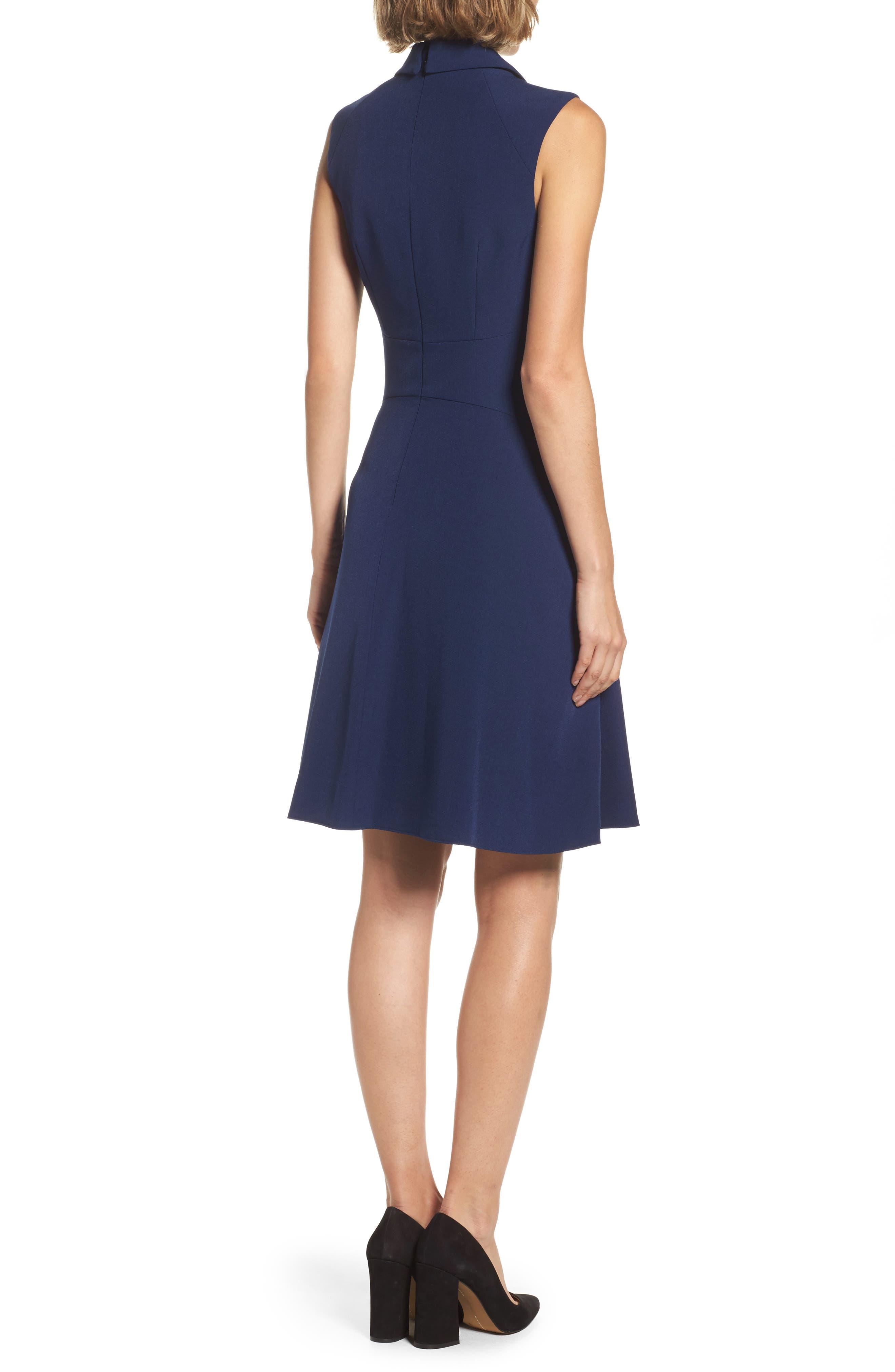 Stretch Crepe A-Line Dress,                             Alternate thumbnail 2, color,                             413