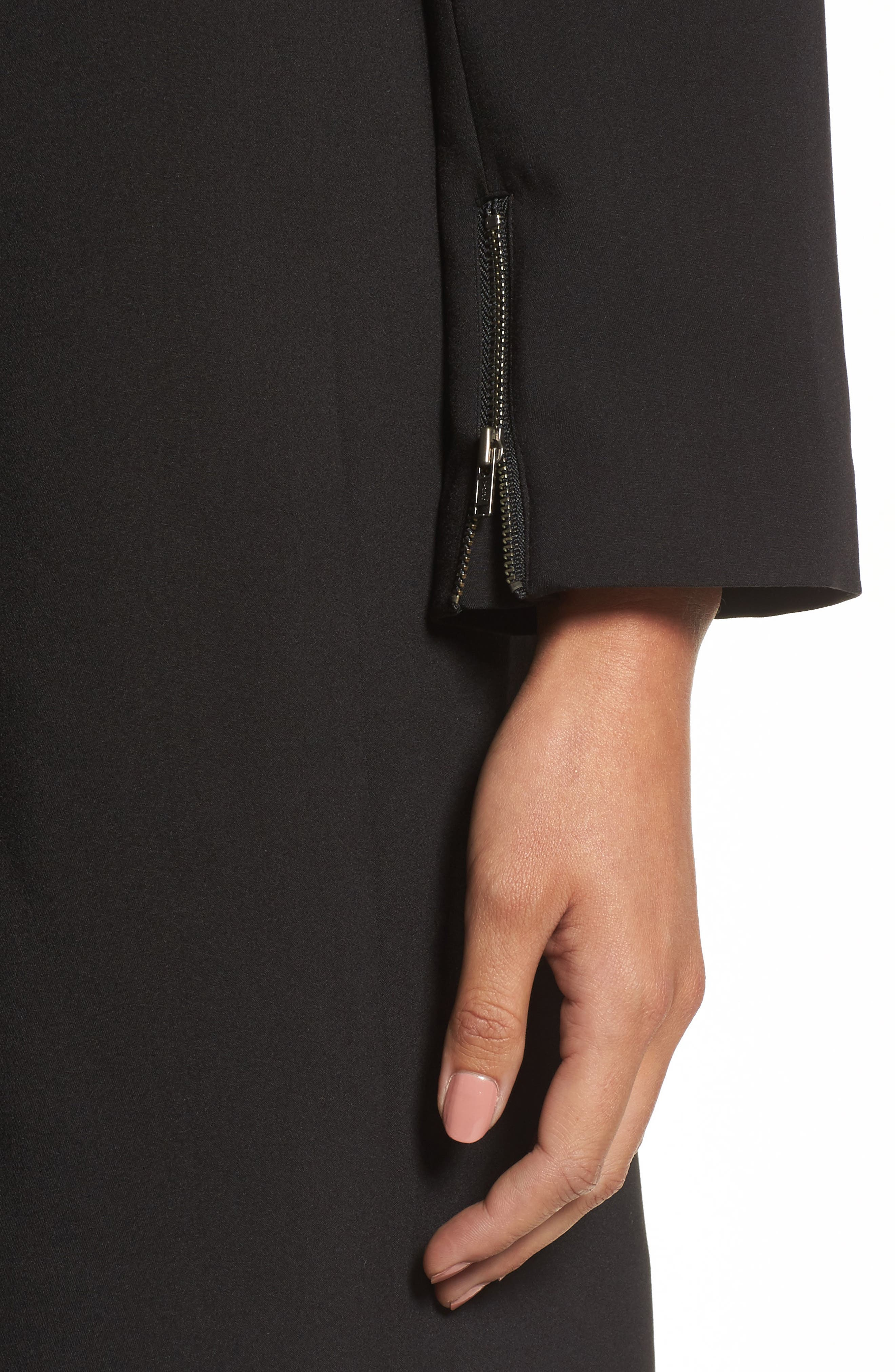 Drape Jacket,                             Alternate thumbnail 4, color,                             BLACK