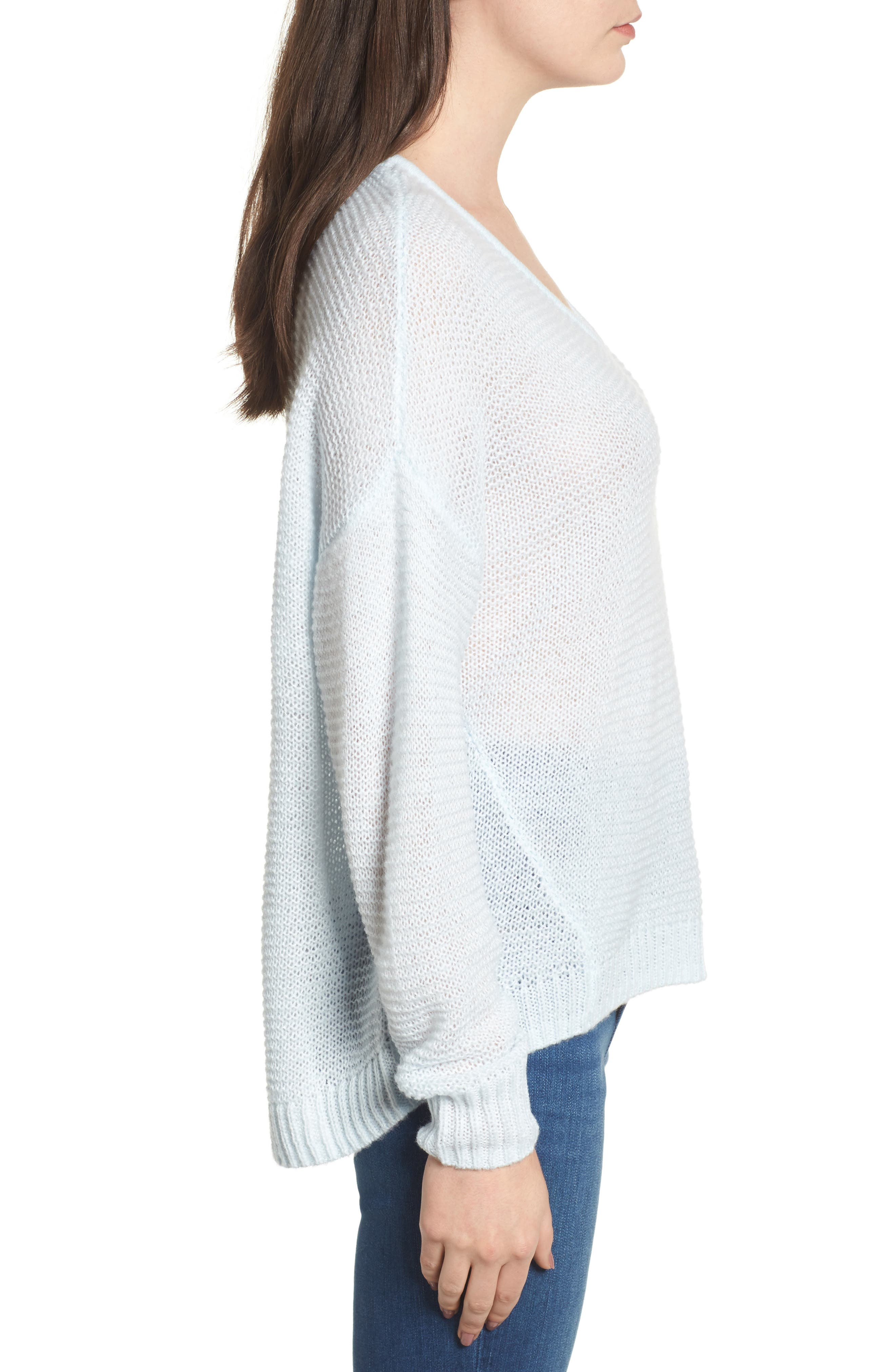 Double V Sweater,                             Alternate thumbnail 3, color,                             450