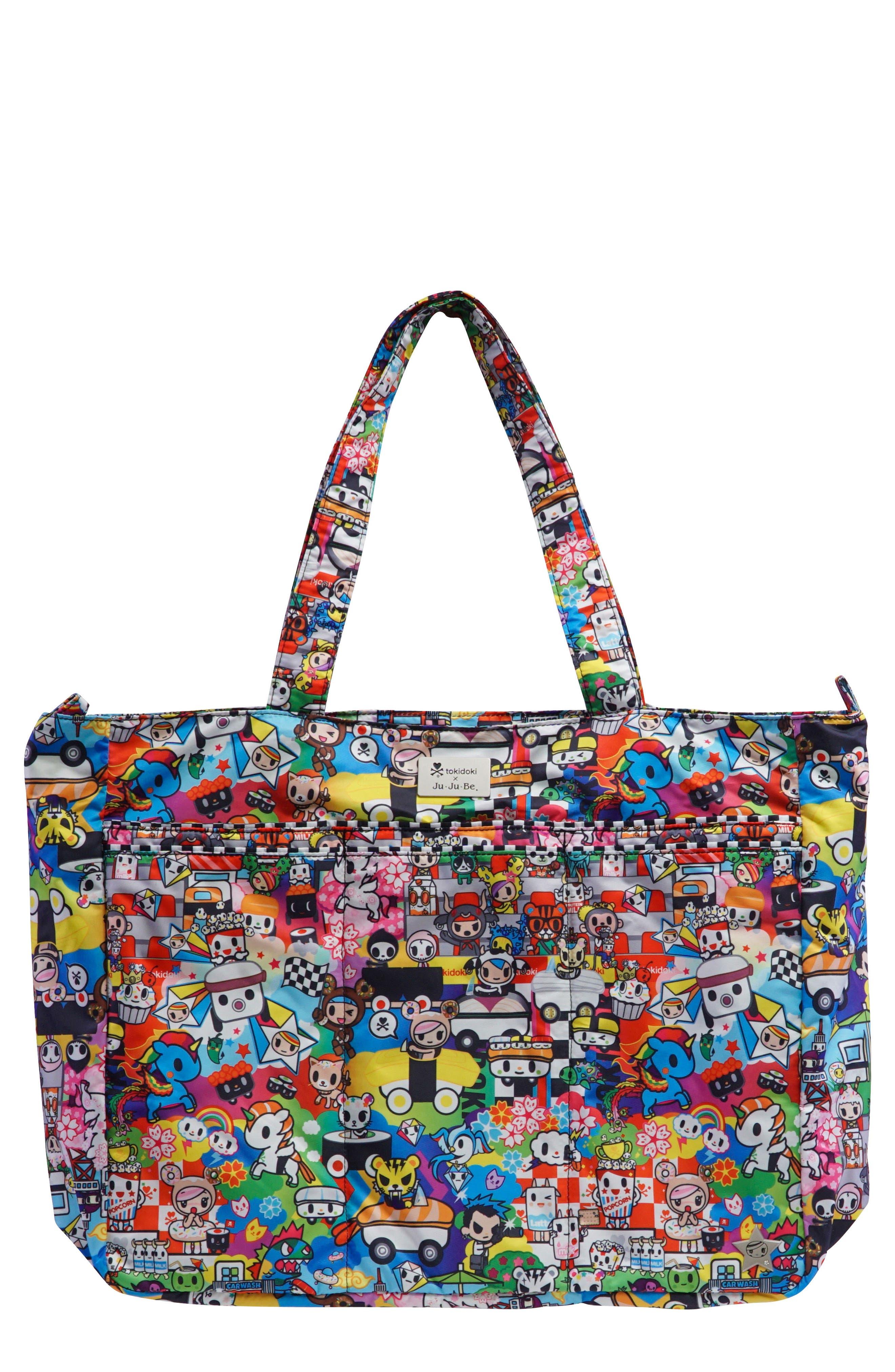 tokidoki x Ju-Ju-Be 'Super Be' Diaper Bag,                             Main thumbnail 1, color,                             SUSHI CARS