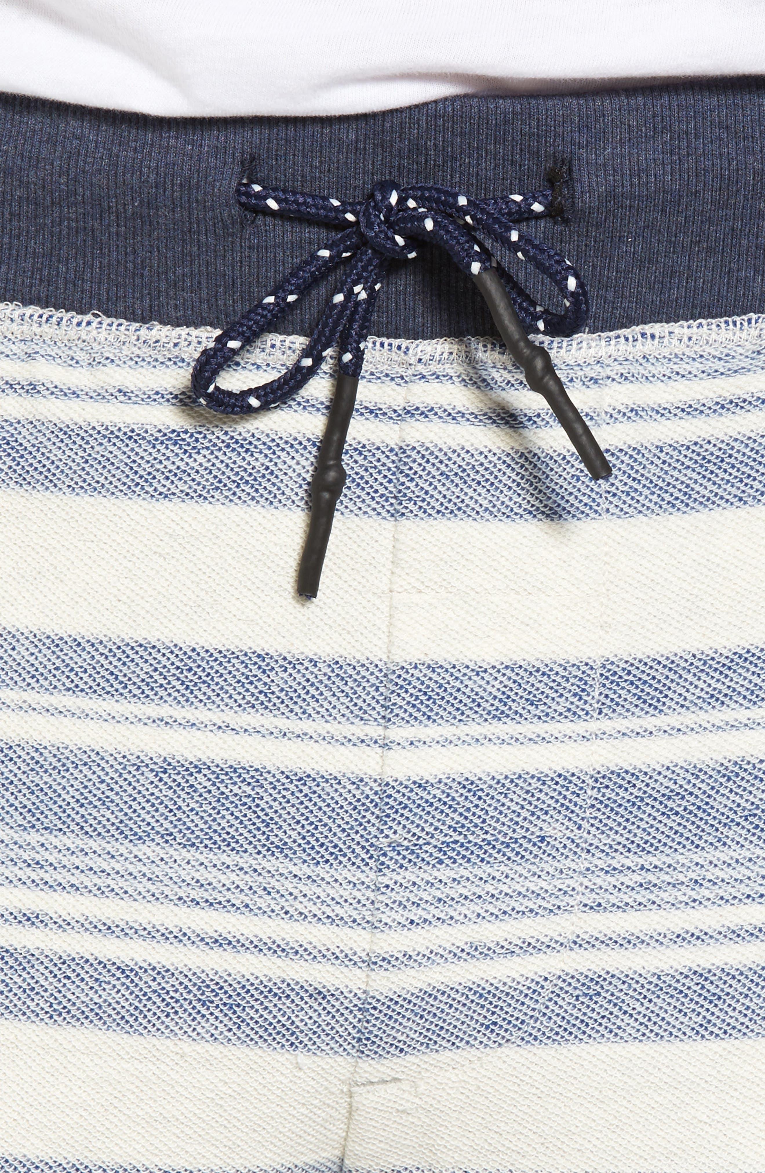 Stripe Reverse Terry Shorts,                             Alternate thumbnail 4, color,                             461