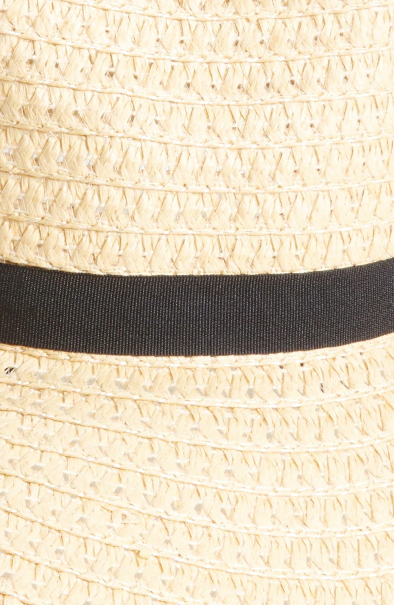 Wide Brim Staw Hat,                             Alternate thumbnail 2, color,                             NATURAL/ BLACK