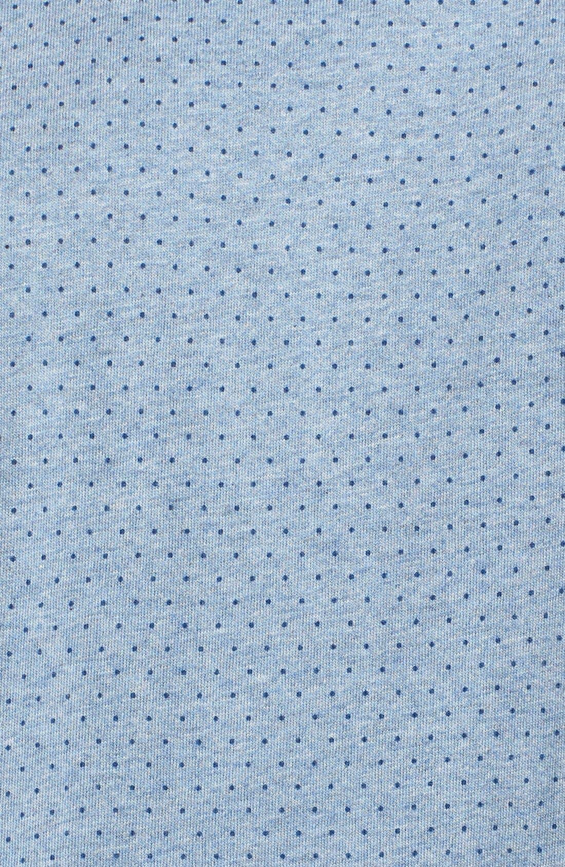 'Reworkd' Trim Fit Dot Print Mixed Media Sport Shirt,                             Alternate thumbnail 7, color,