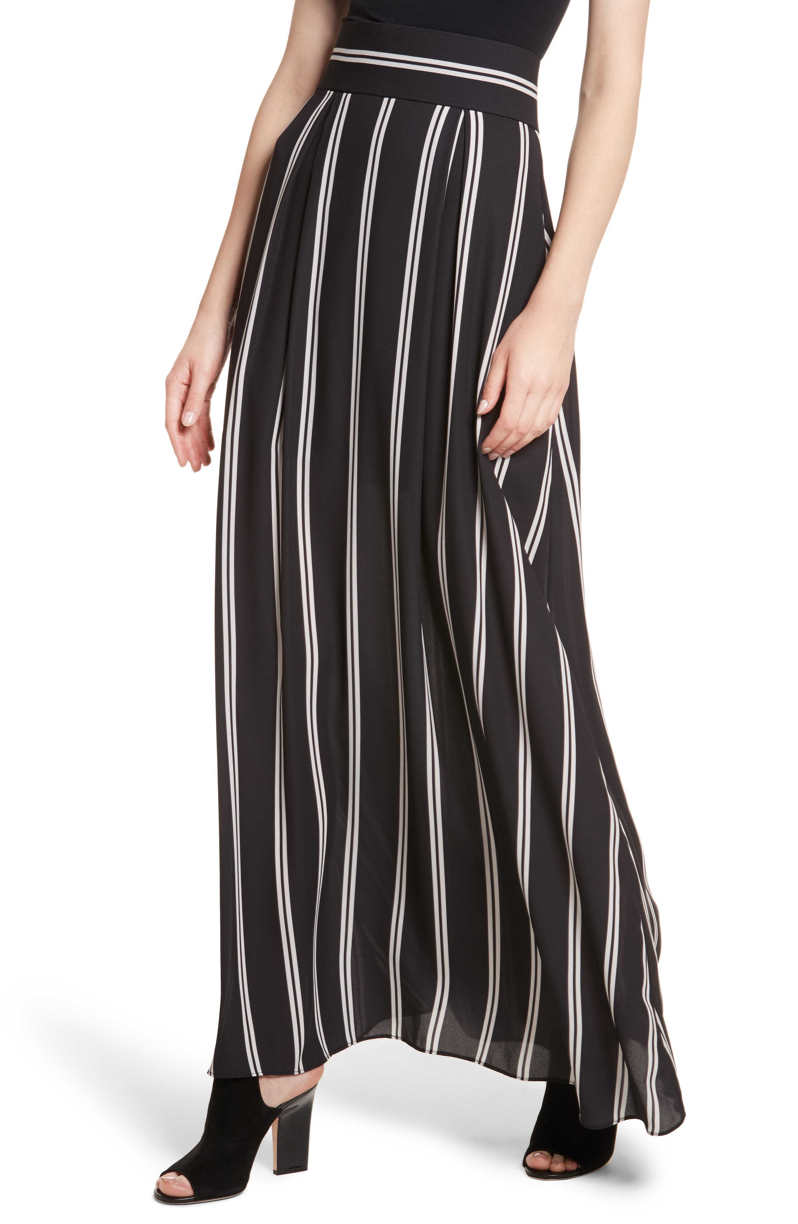 Gabel Clean Pleat Maxi Skirt,                             Alternate thumbnail 4, color,                             002