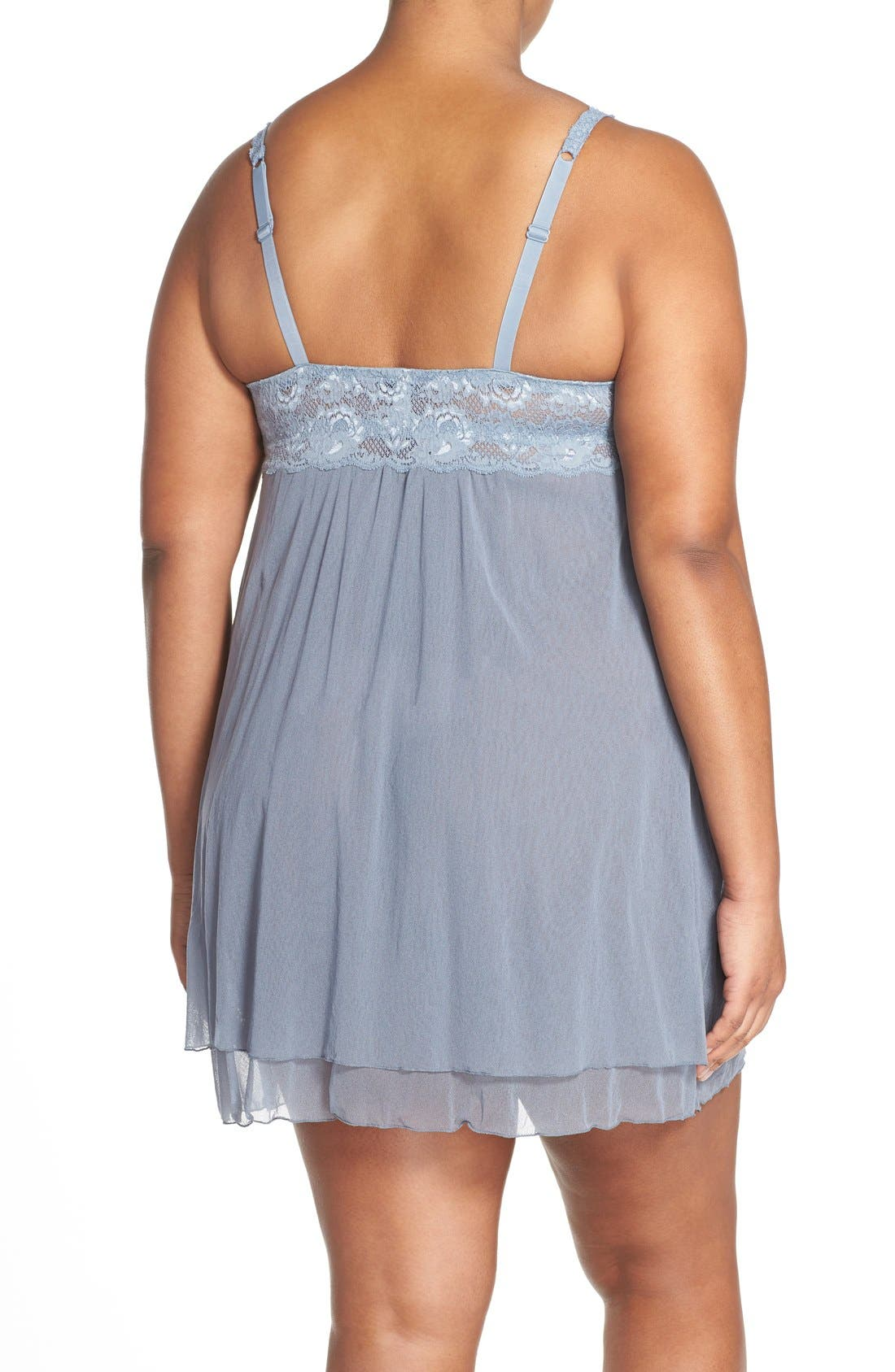'Never Say Never' Babydoll Chemise,                             Alternate thumbnail 19, color,