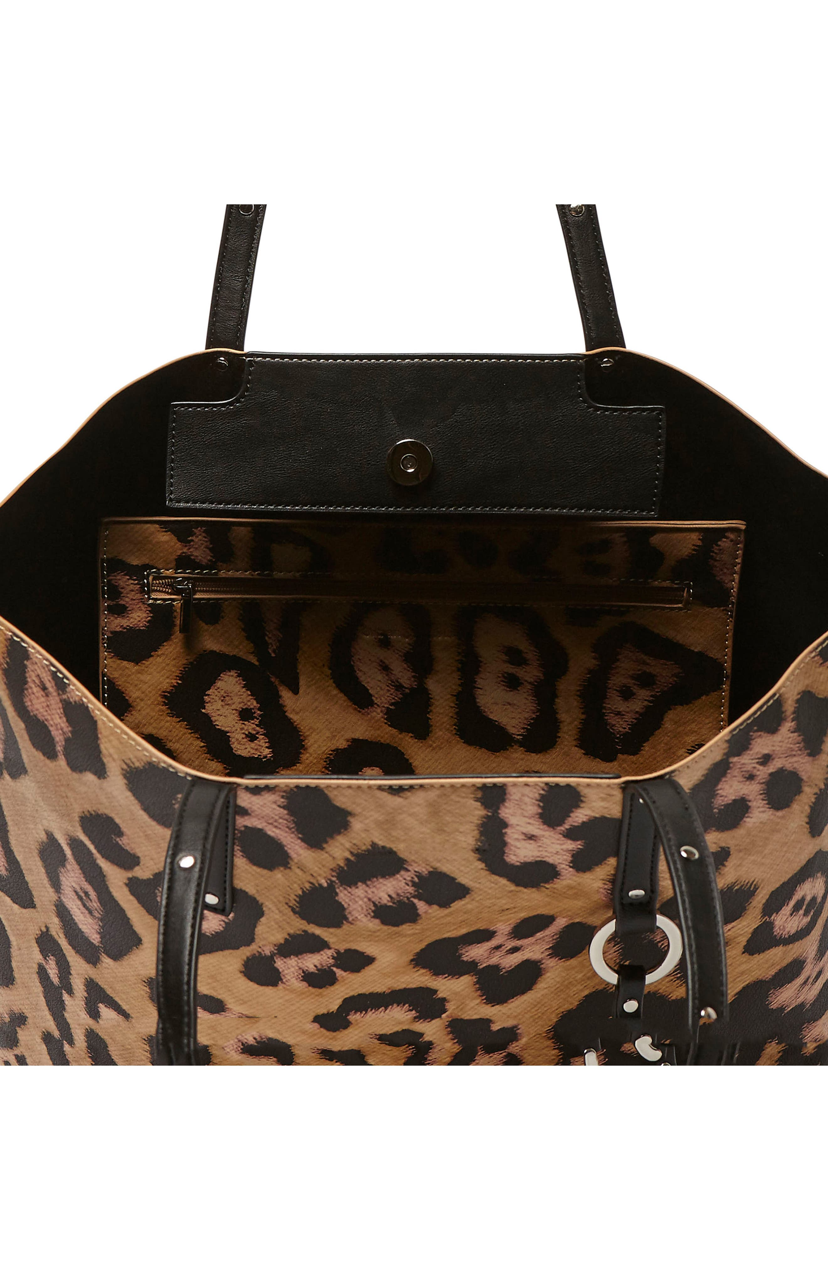Wild Fire Vegan Leather Tote,                             Alternate thumbnail 8, color,