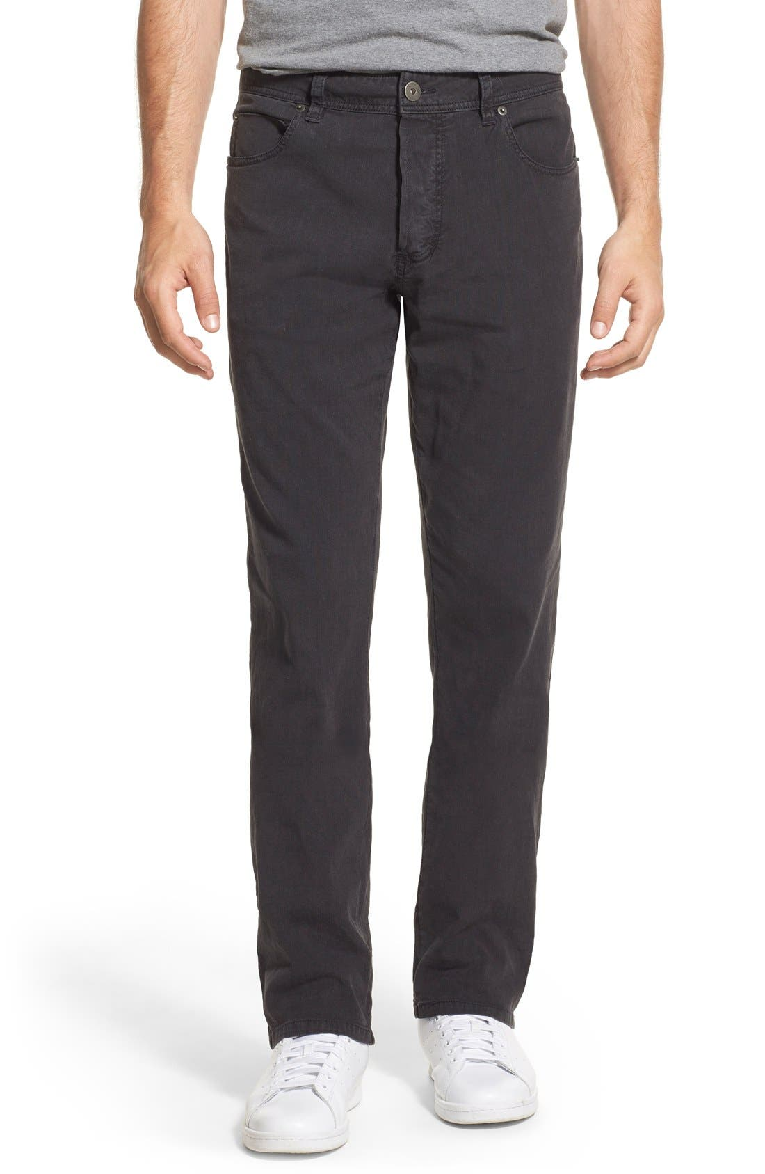 Straight Leg Five-Pocket Pants,                         Main,                         color, CARBON PIGMENT