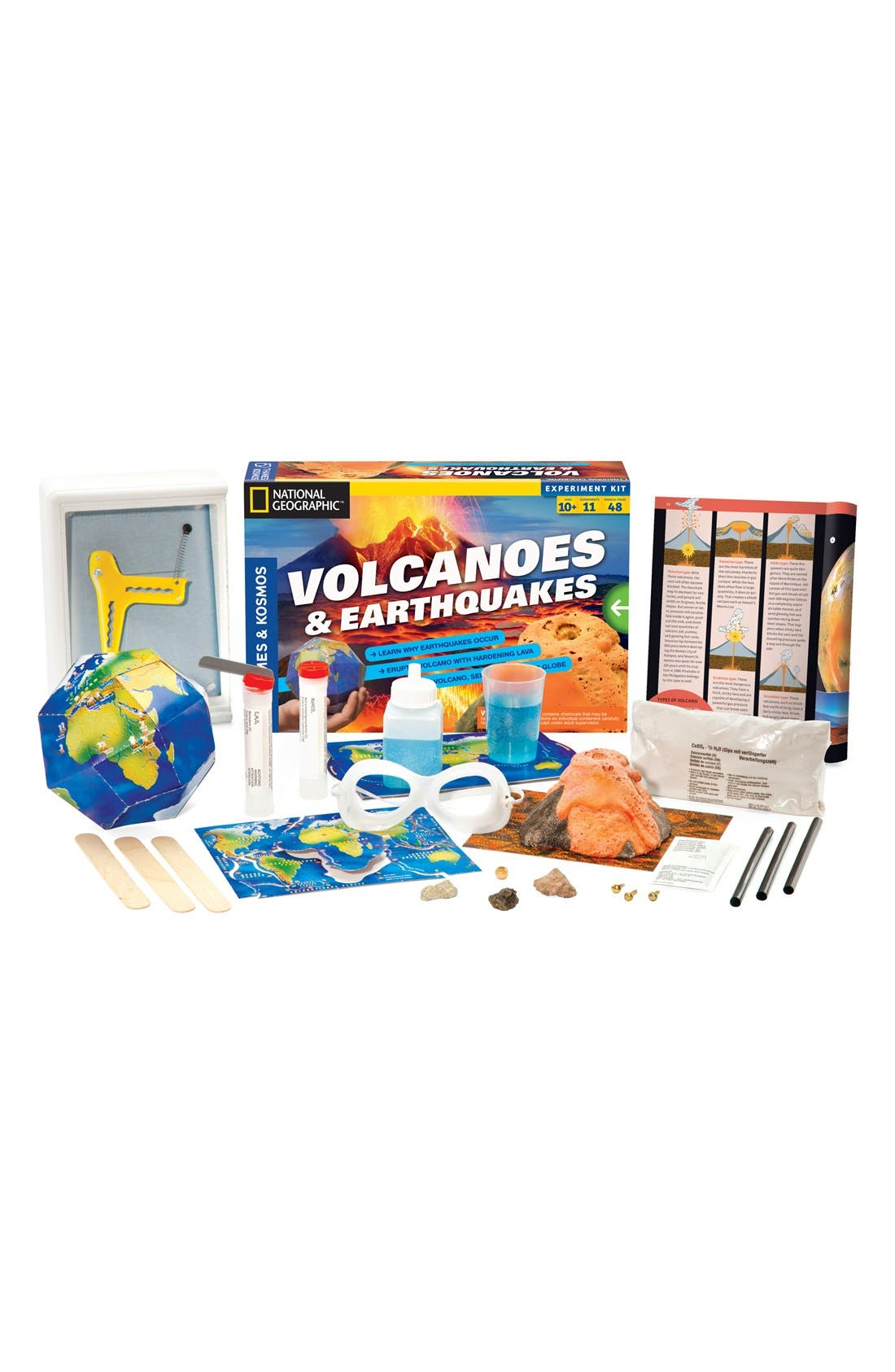 THAMES & KOSMOS,                             'Volcanoes & Earthquakes' Experiment Kit,                             Main thumbnail 1, color,                             NONE
