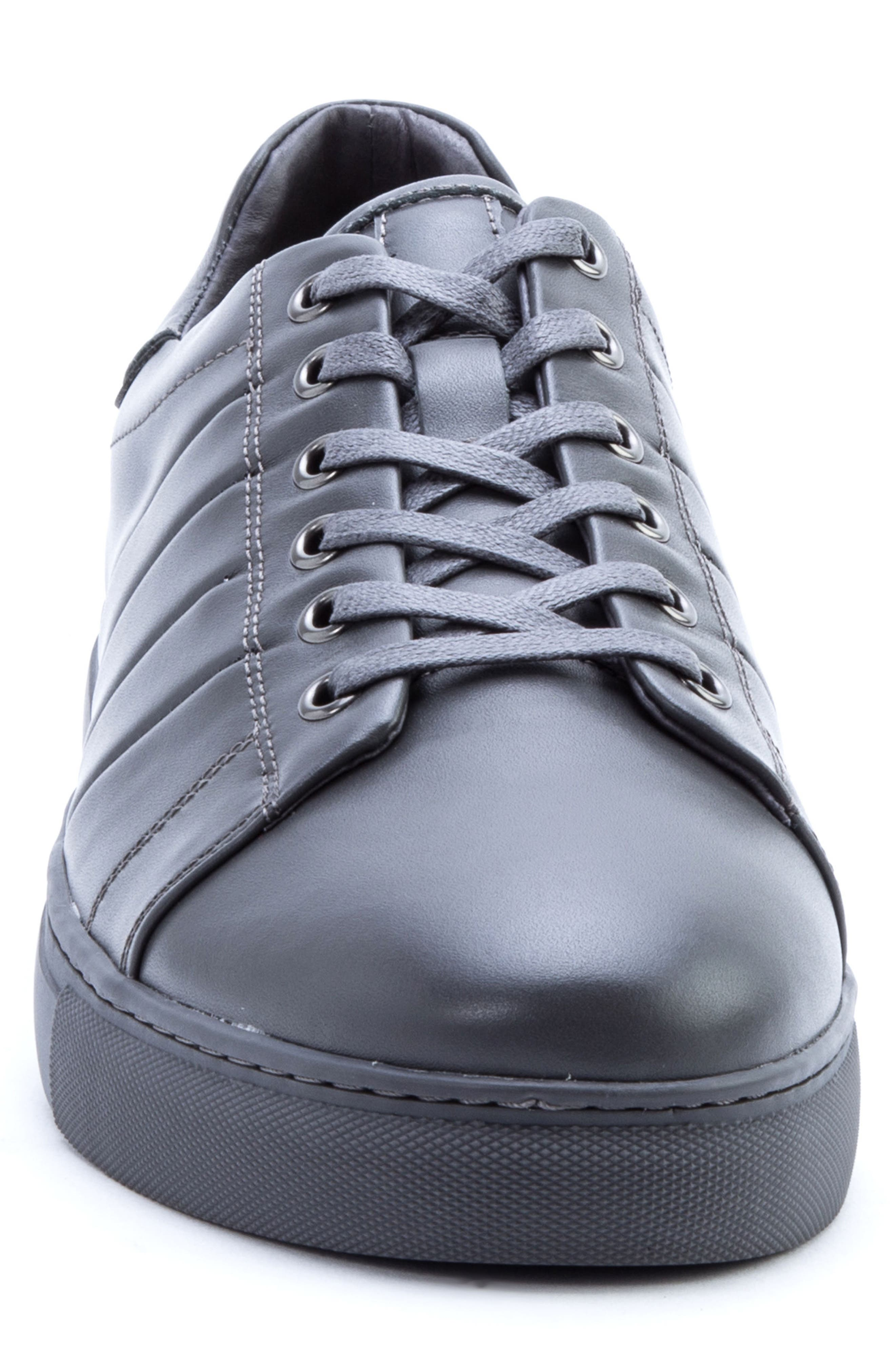 Mitchell Sneaker,                             Alternate thumbnail 4, color,                             GREY LEATHER