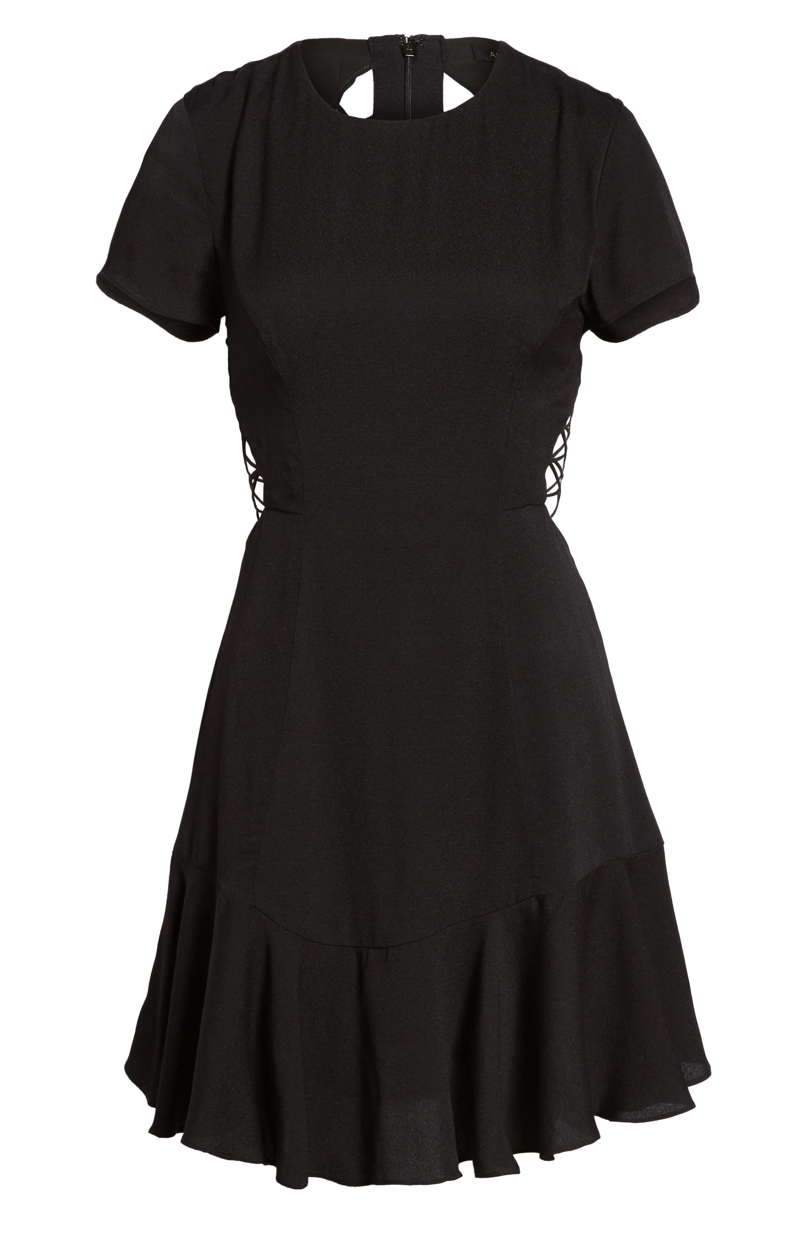 Chelsea Lattice Back Fit & Flare Dress,                             Alternate thumbnail 21, color,
