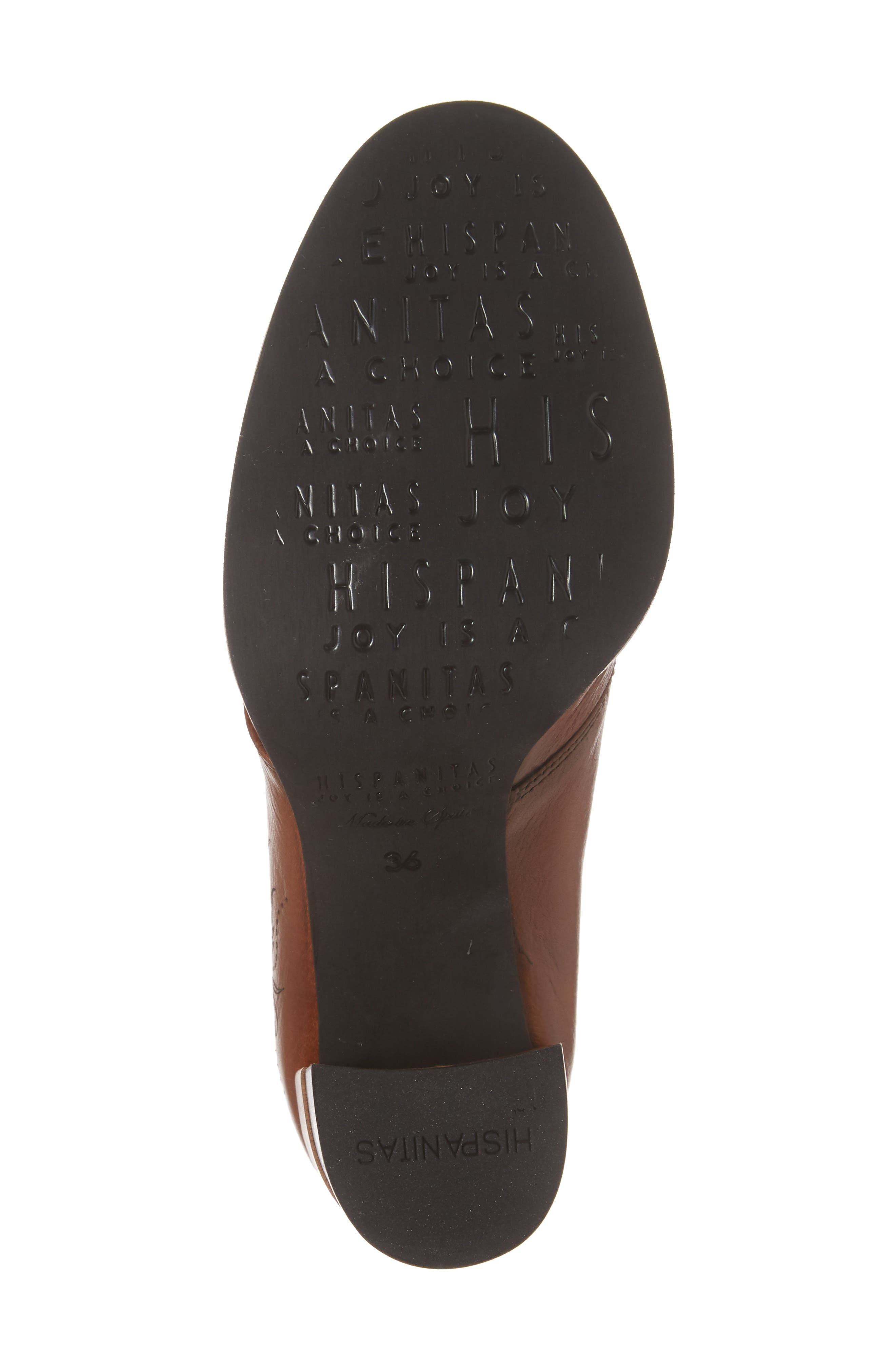 Hayes Lace-Up Pump,                             Alternate thumbnail 6, color,                             CUOIO LEATHER