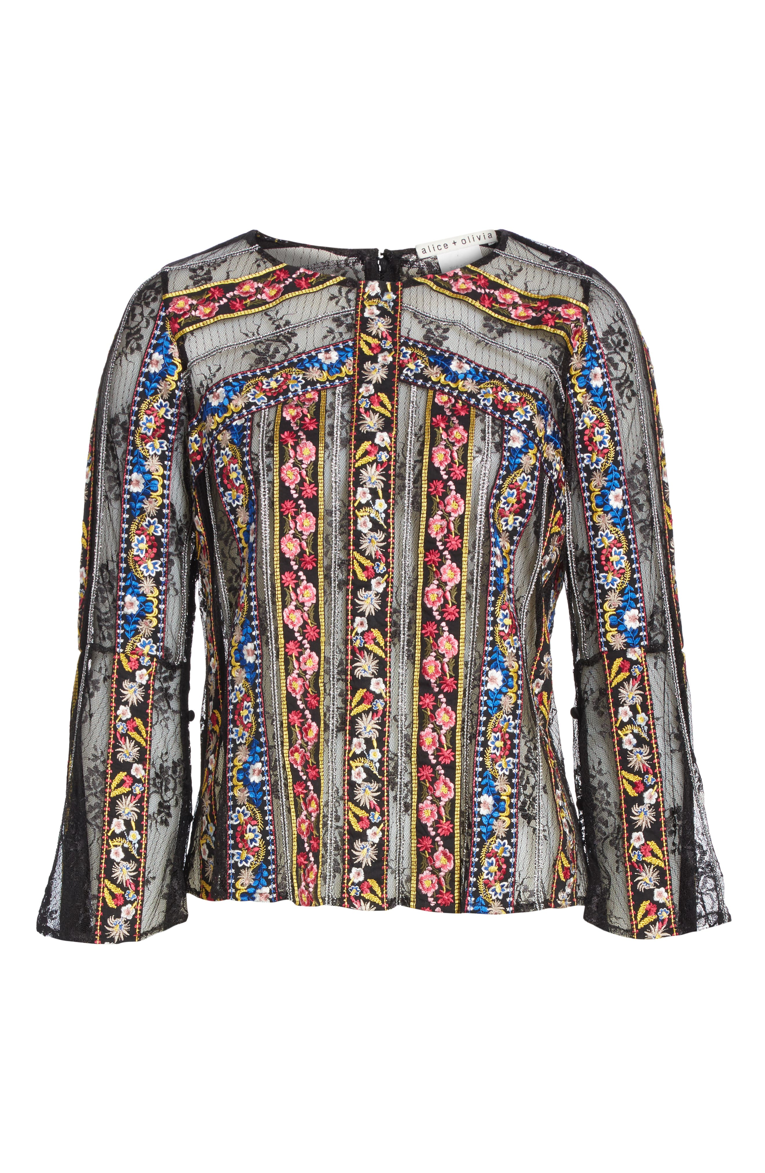 Larue Embroidered Blouse,                             Alternate thumbnail 6, color,                             019