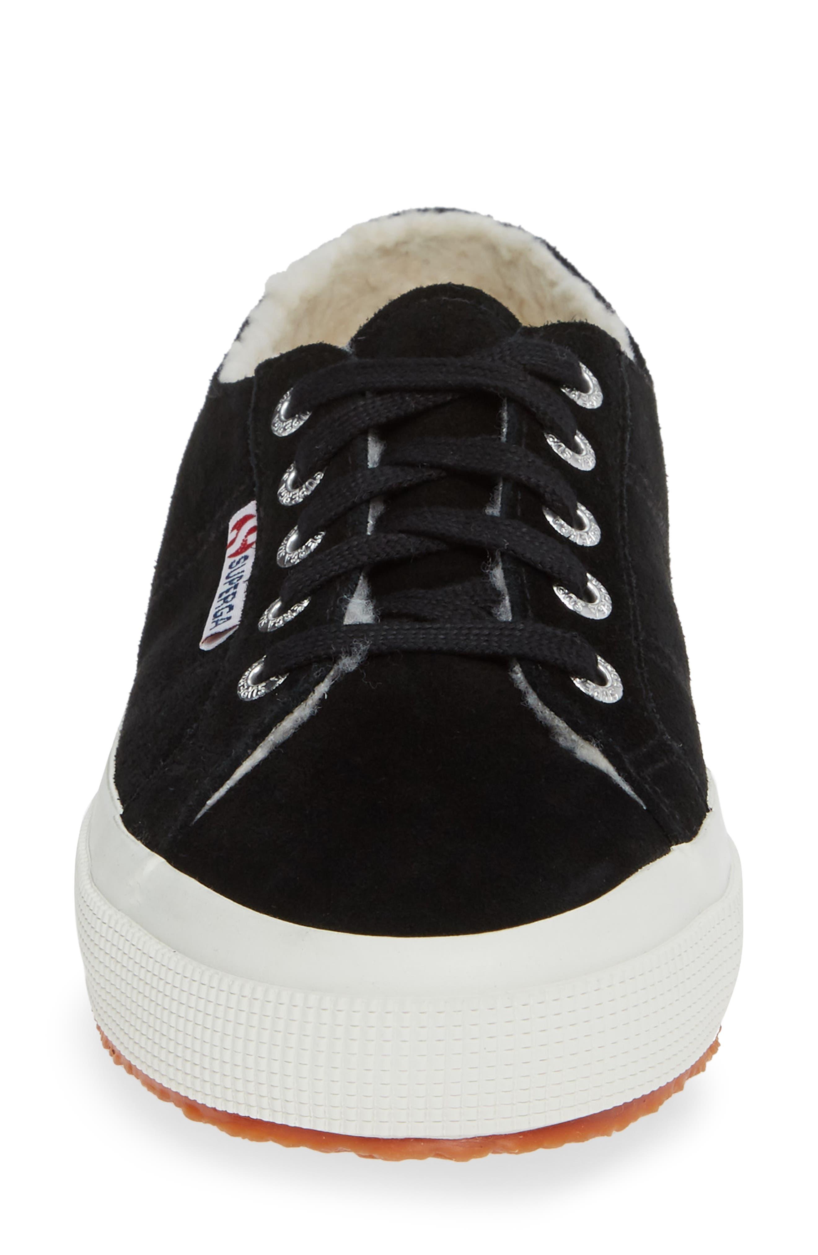 2750 Suefurw Sneaker,                             Alternate thumbnail 4, color,                             BLACK SUEDE