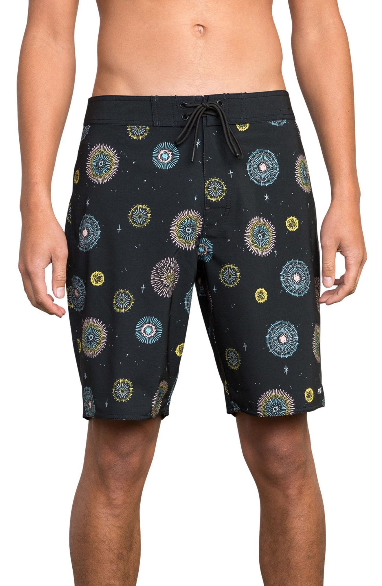 Pelletier Board Shorts,                         Main,                         color, BLACK