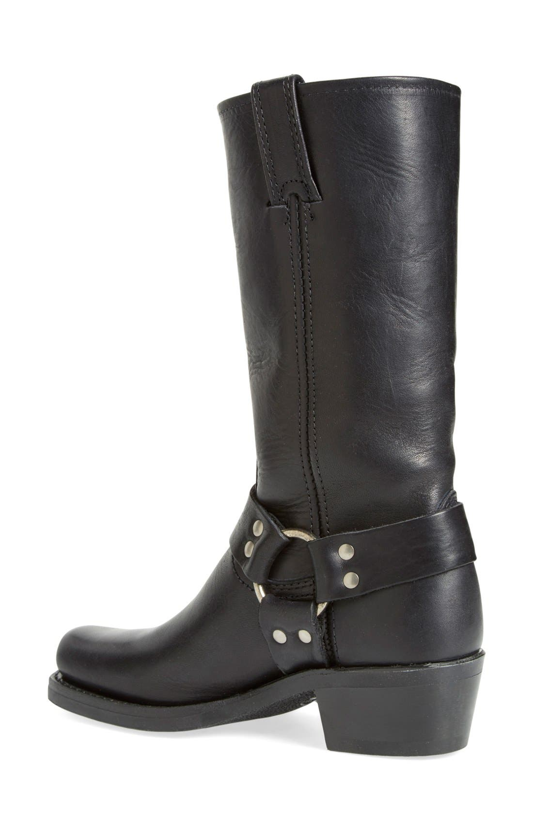 'Harness 12R' Boot,                             Alternate thumbnail 2, color,                             BLACK LEATHER