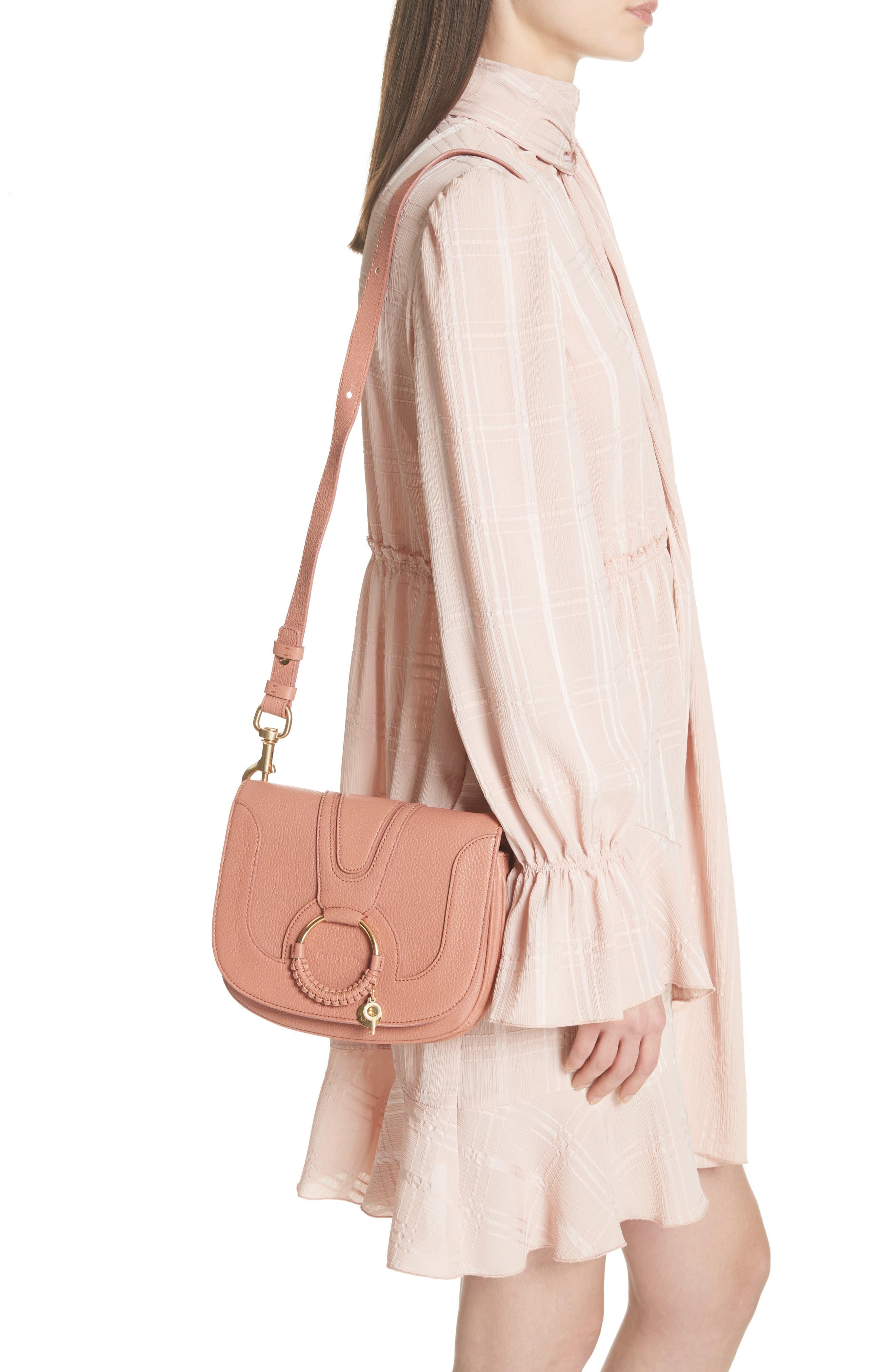 Hana Small Leather Crossbody Bag,                             Alternate thumbnail 11, color,