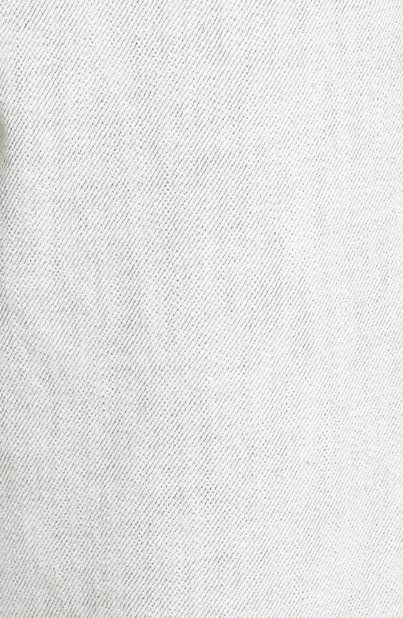 Logo Cuff Crop Jeans,                             Alternate thumbnail 5, color,                             100