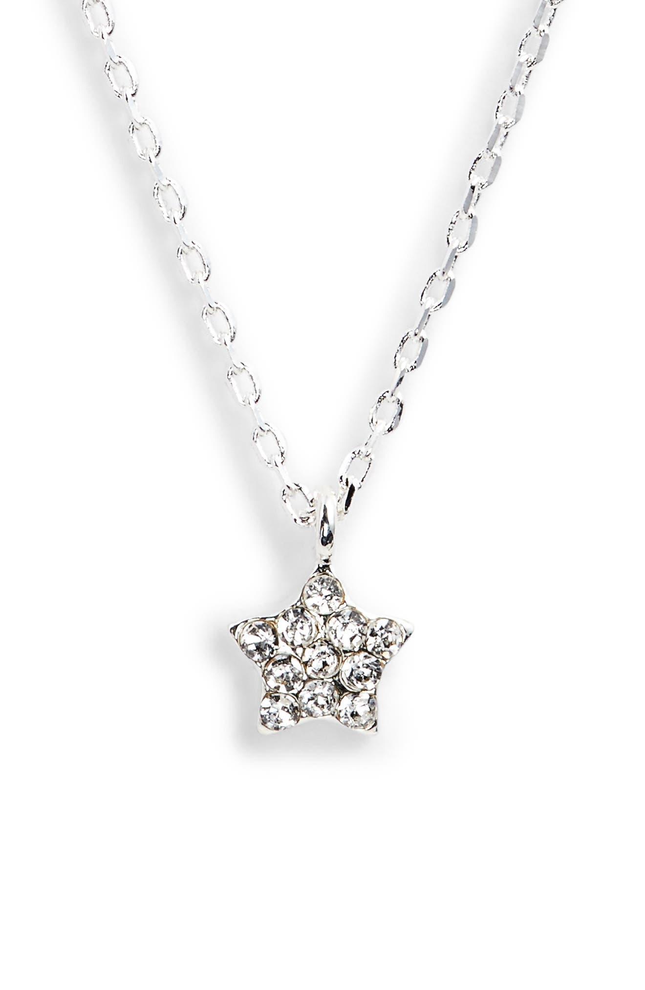 Star Pendant Necklace,                         Main,                         color,